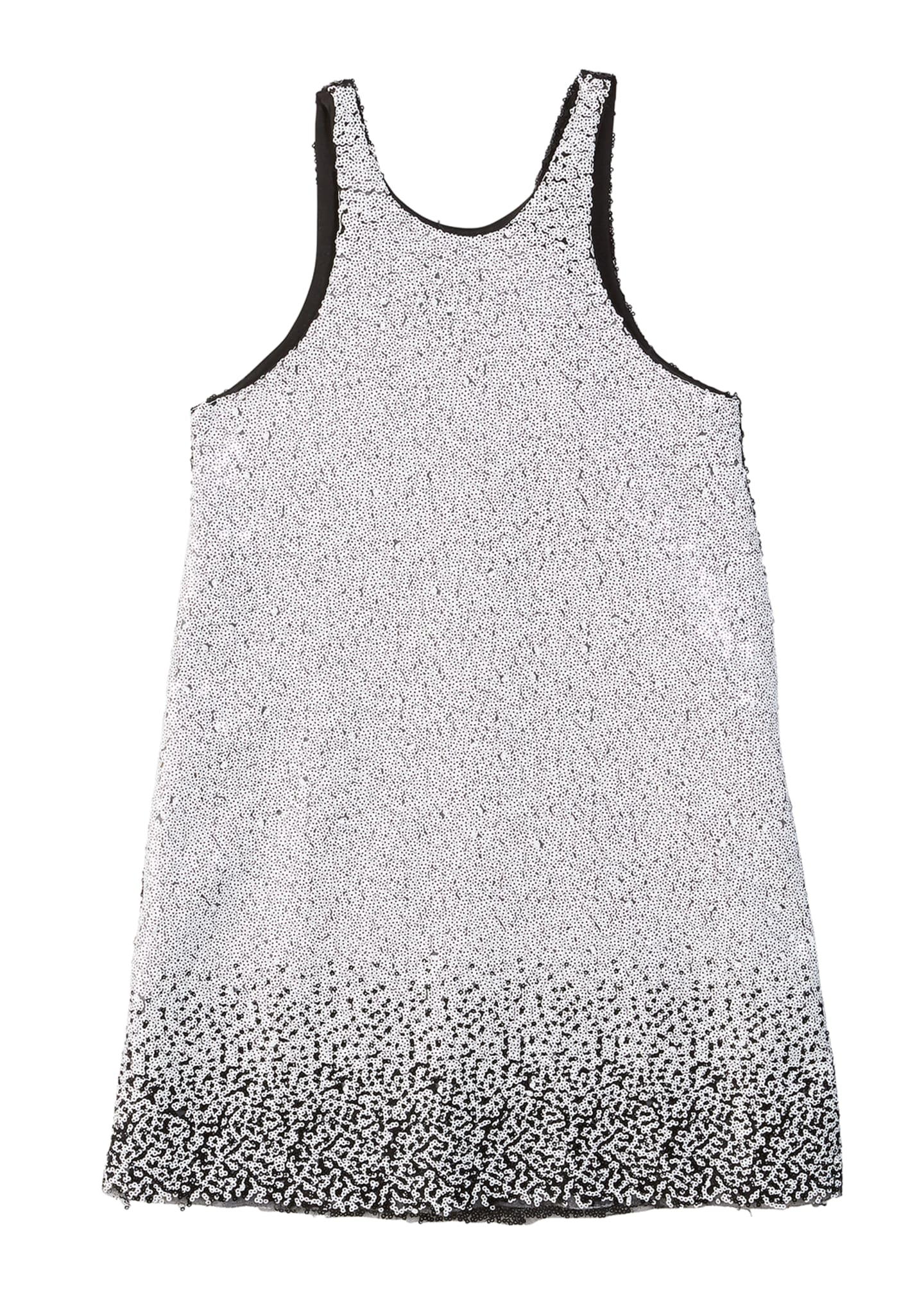 Zoe Kinsley Two-Tone Knit Sequin Shift Dress, Size