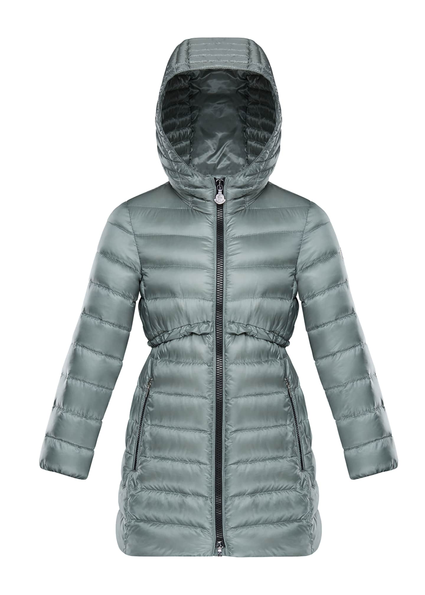 Image 1 of 1: Suva Quilted Ruffle-Trim Hooded Jacket, Size 8-14
