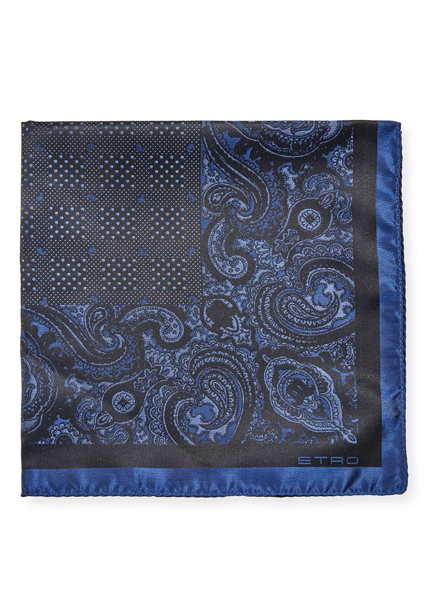 Etro Men's Silk Pochette Tinto Filo Pocket Square