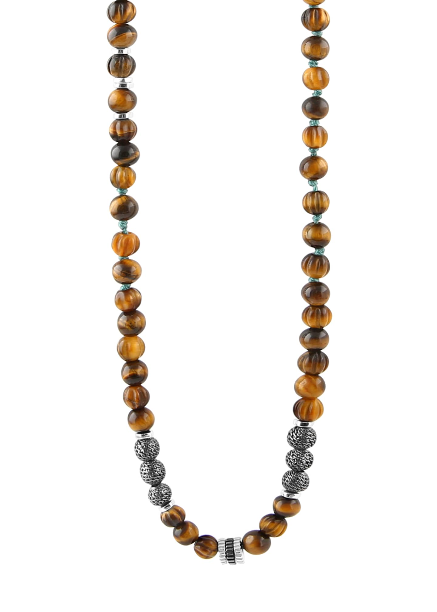 Tateossian Men's The Formentera Tiger Eye Necklace