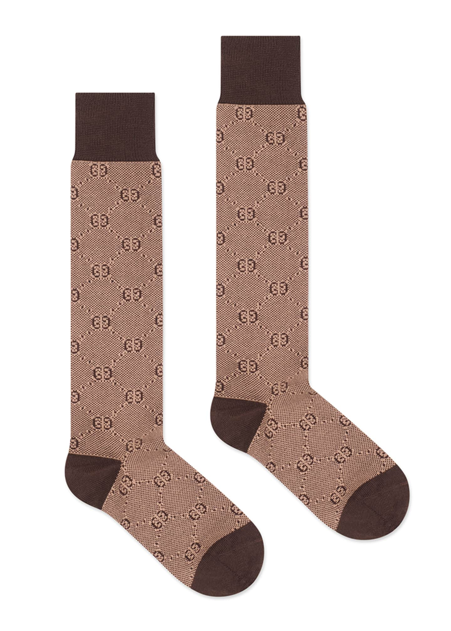 Gucci Men's Tonal GG Cotton/Wool Socks