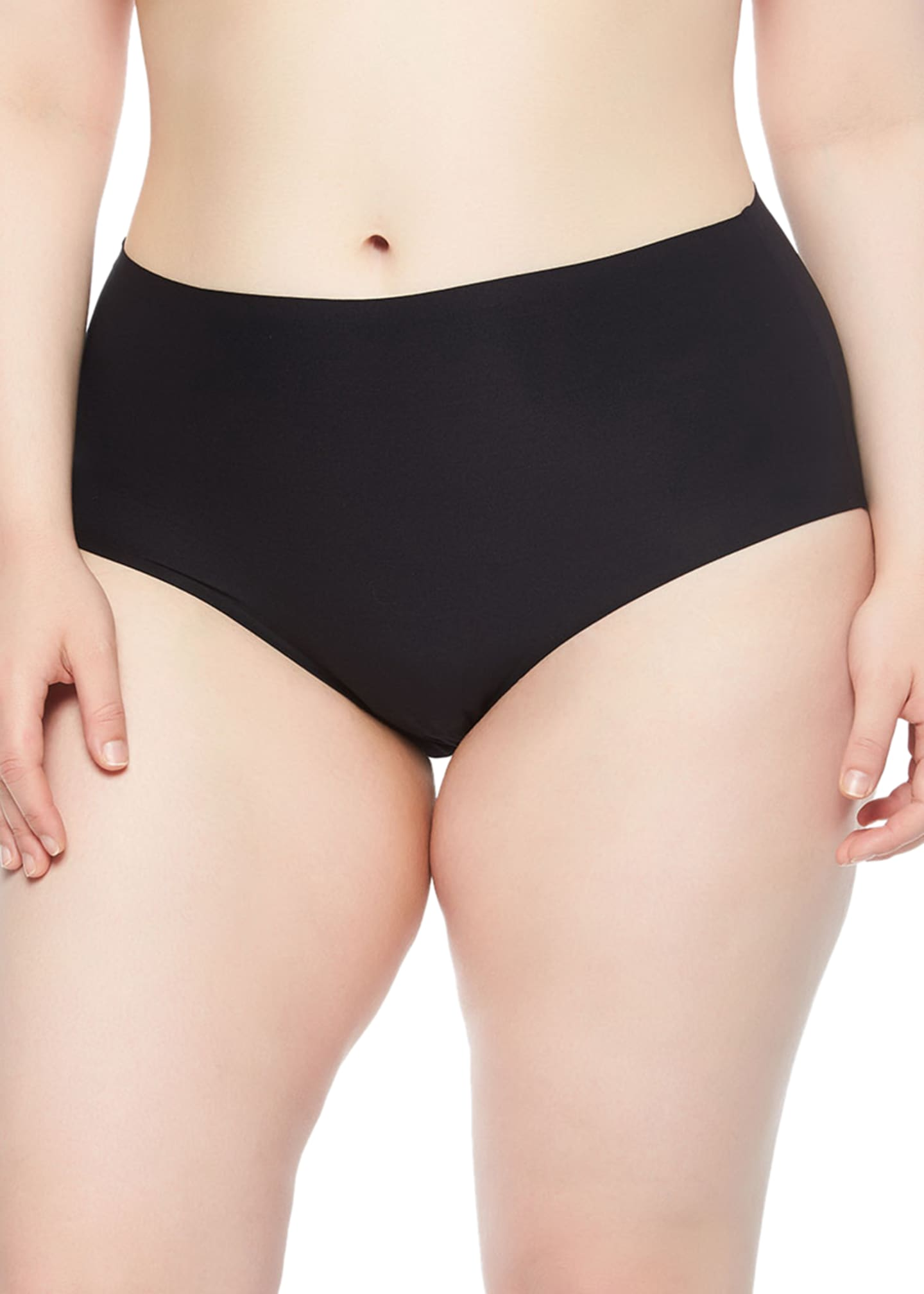 Image 1 of 2: Plus Size Soft Stretch Full-Coverage Briefs