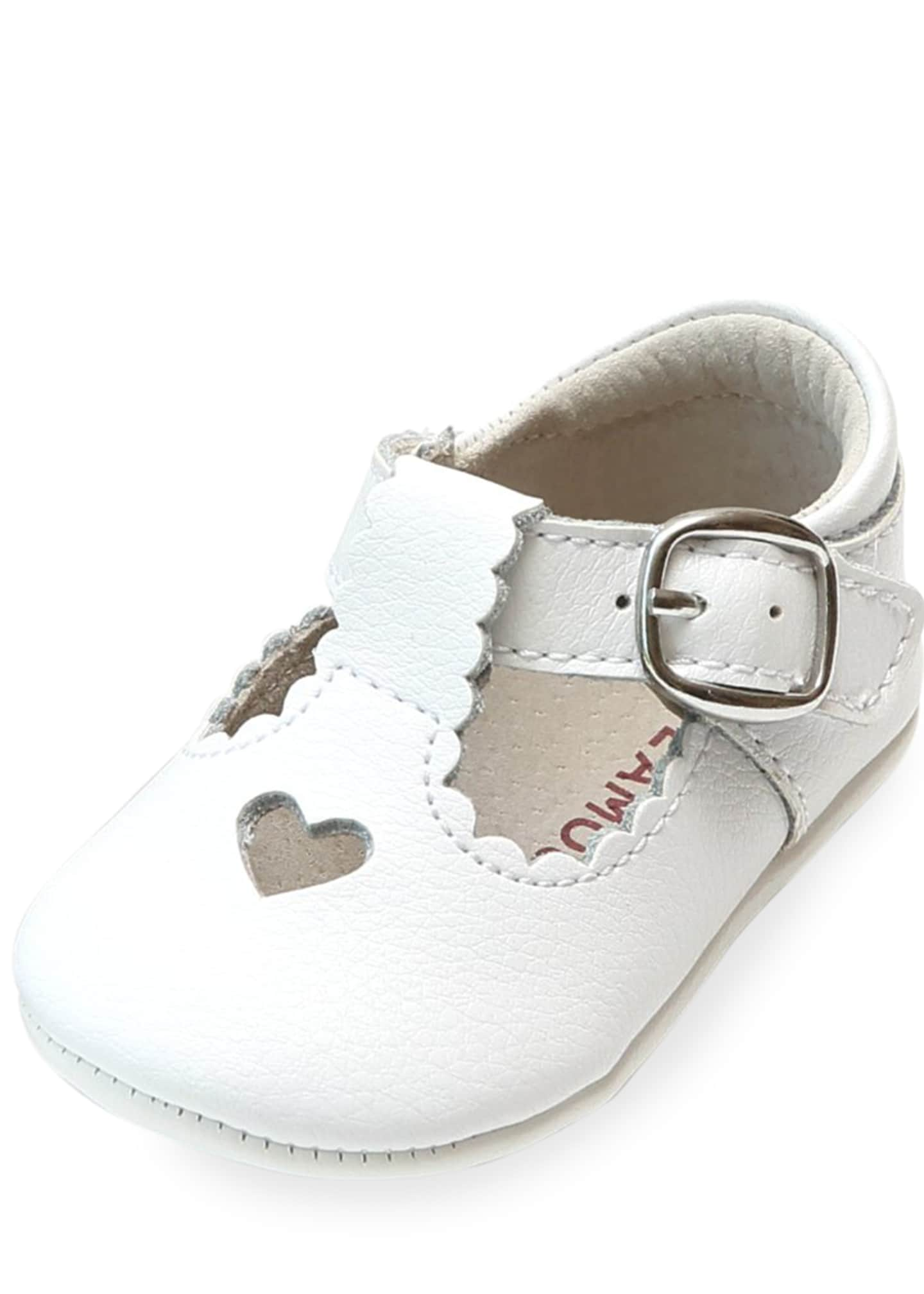 L'Amour Shoes Rosale Heart Cutout Leather Mary Jane