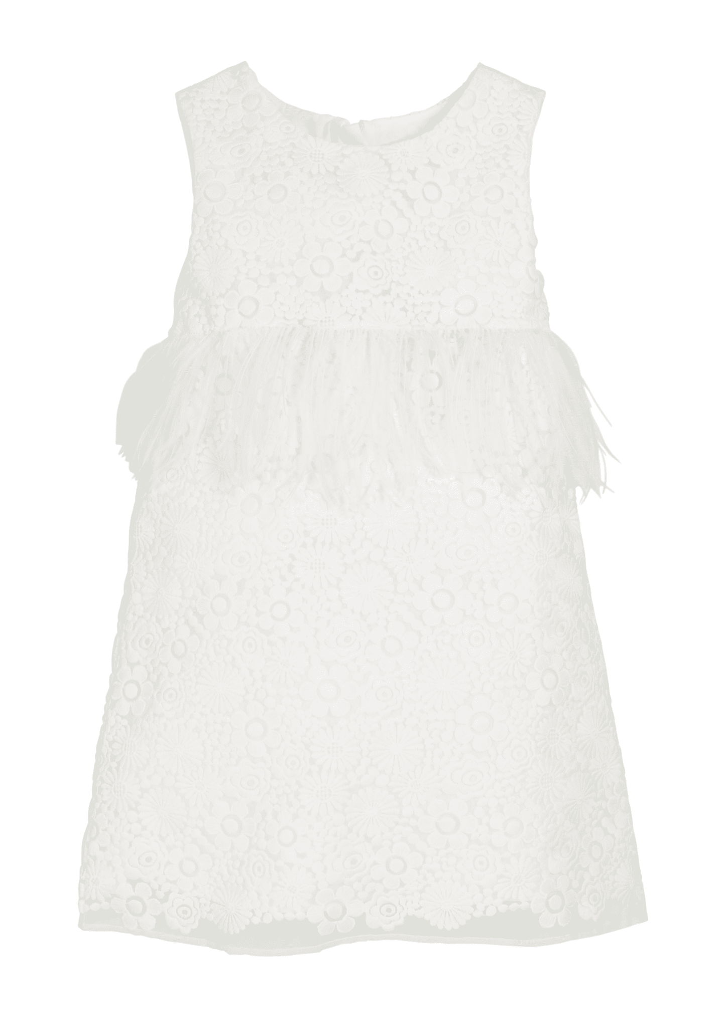 Image 1 of 1: Special Occasion Feather-Trim Lace Dress, Size 5-8