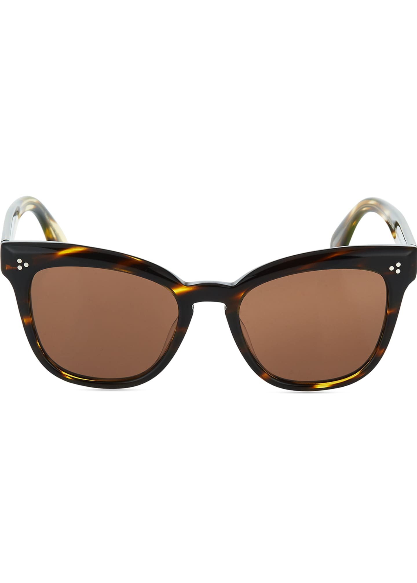 Image 2 of 3: Marianela Rounded Acetate Butterfly Sunglasses