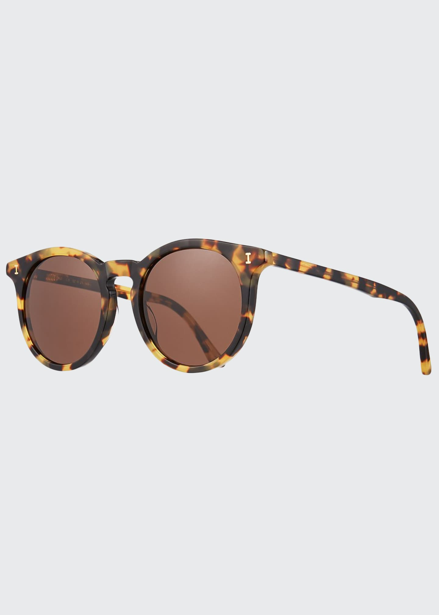 Illesteva Sterling II Round Transparent Acetate Sunglasses