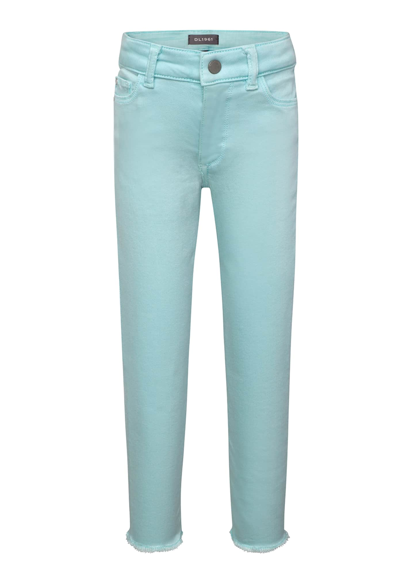 DL1961 Premium Denim Girls' Chloe Skinny Raw-Hem Acid