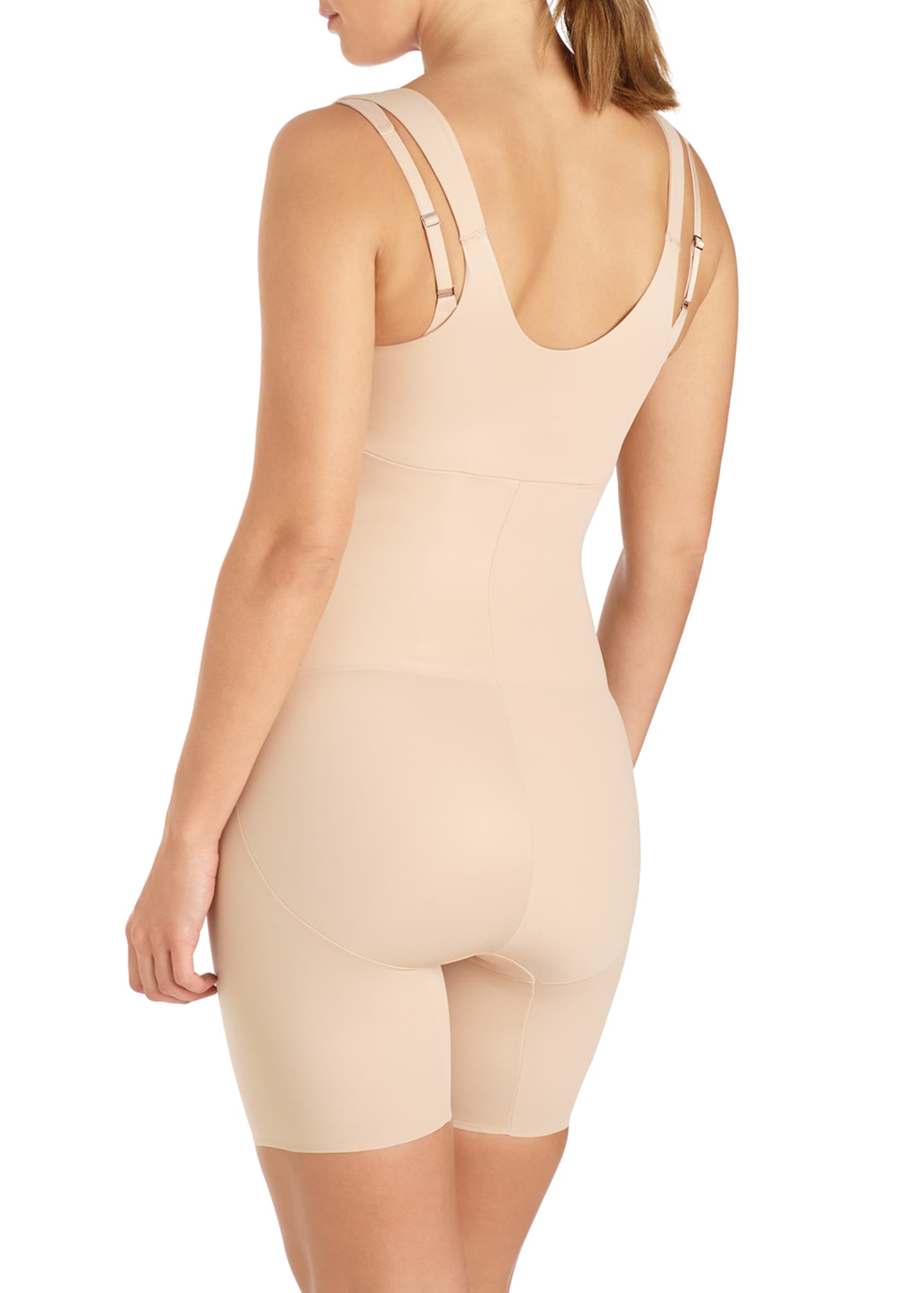 Image 2 of 2: Wear Your Own Bra Mid-Thigh Bodysuit Shaper