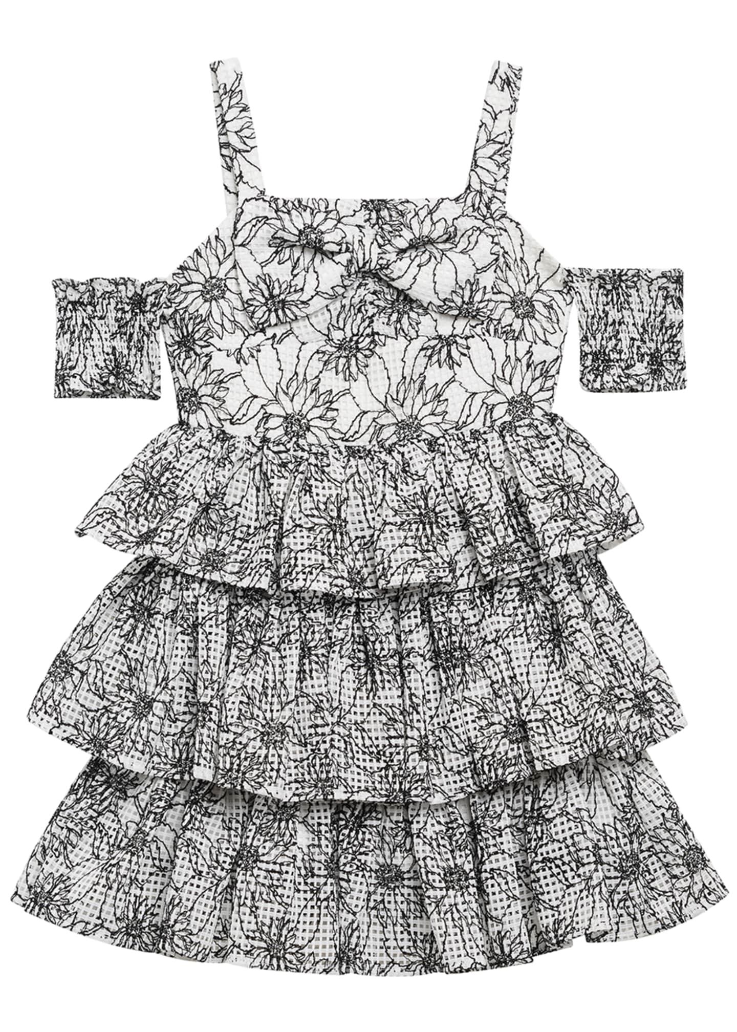 Bardot Junior Ellis Floral Cold-Shoulder Dress, Size 8-16