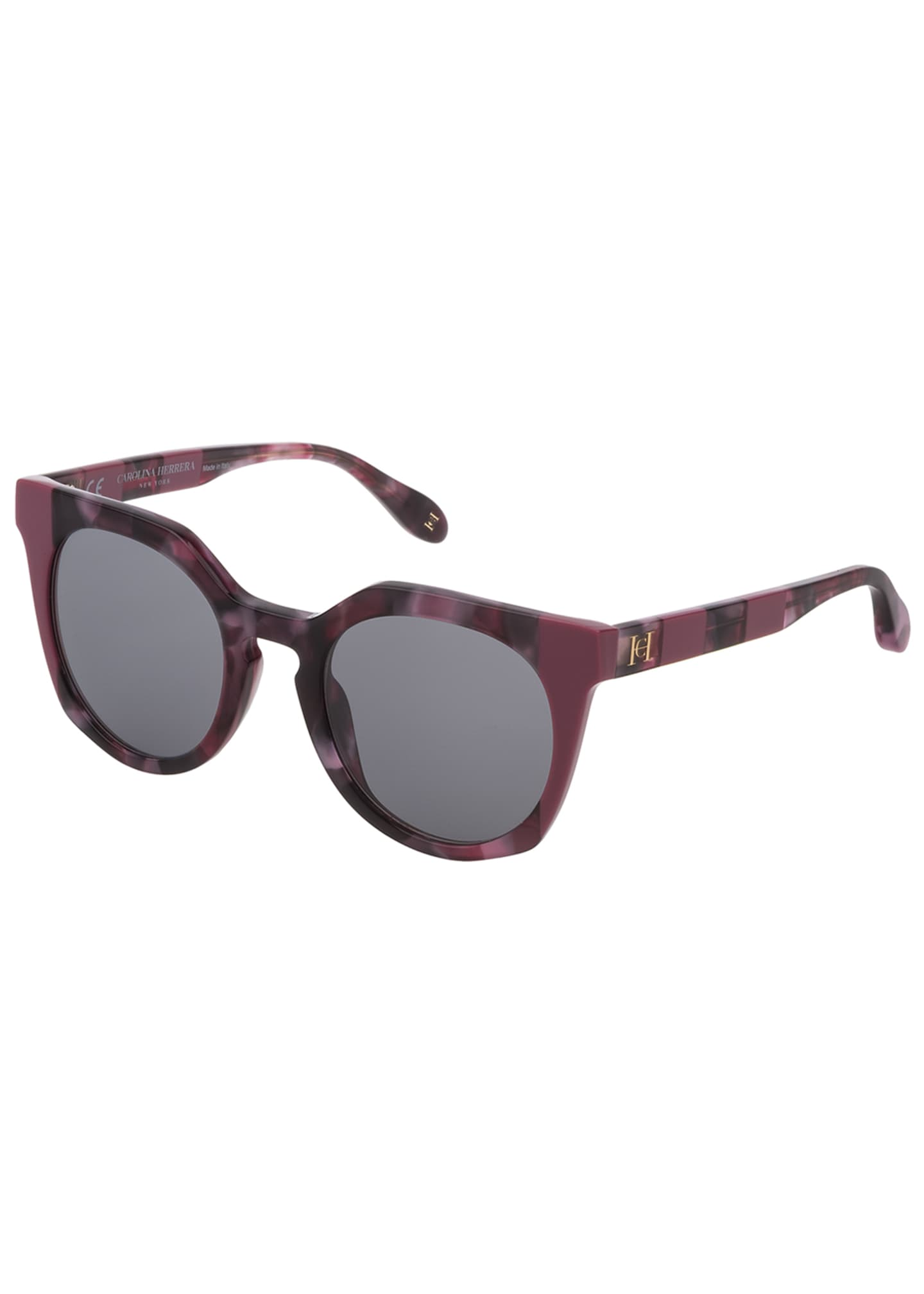 Carolina Herrera Round Acetate Sunglasses