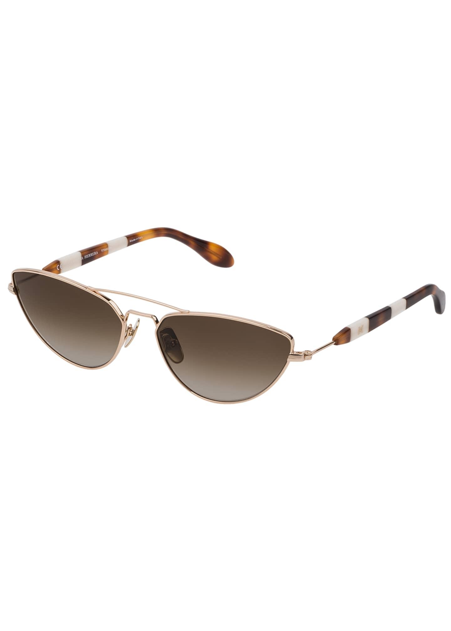 Carolina Herrera Colorblock Cat-Eye Sunglasses