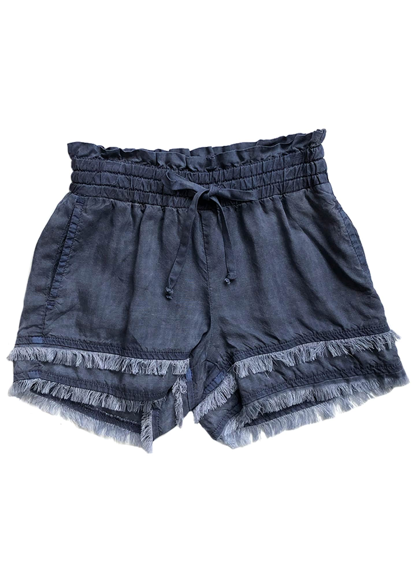 Bella Dahl Fray Hem Flowy Shorts, Size 8-14
