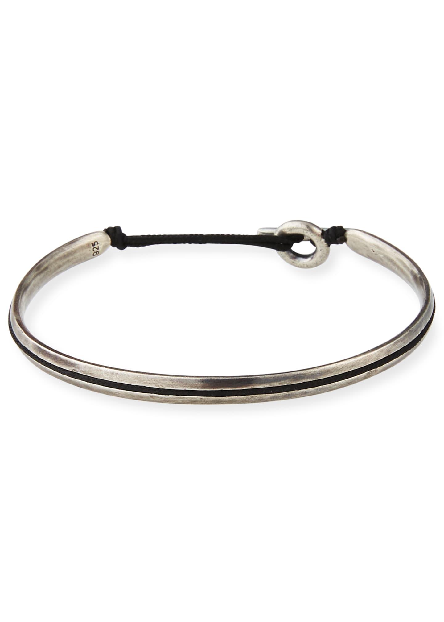 M. Cohen Men's Slim Oval Cuff Bracelet, Black