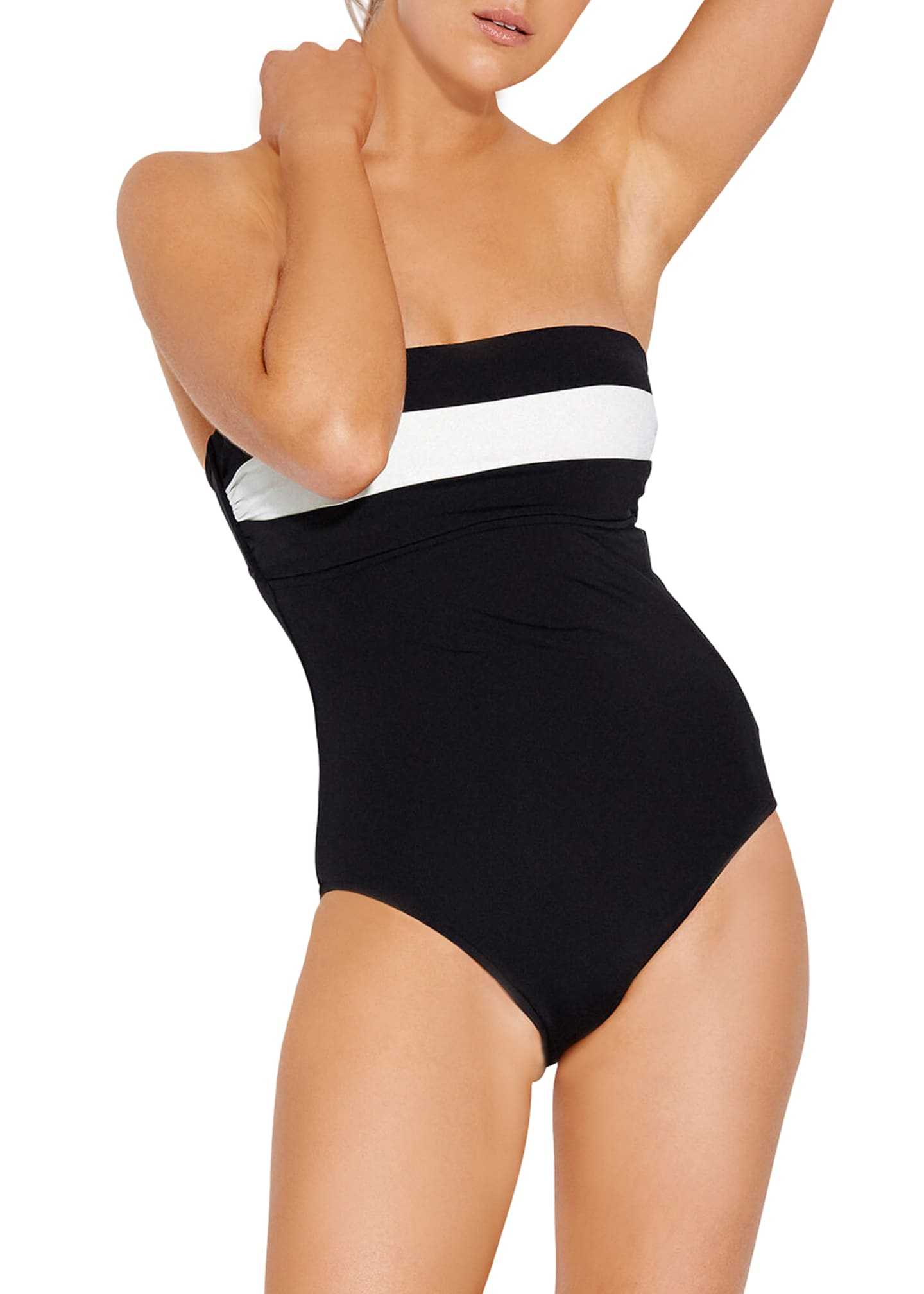 Seafolly Striped Bandeau Maillot One-Piece Swimsuit, Available in