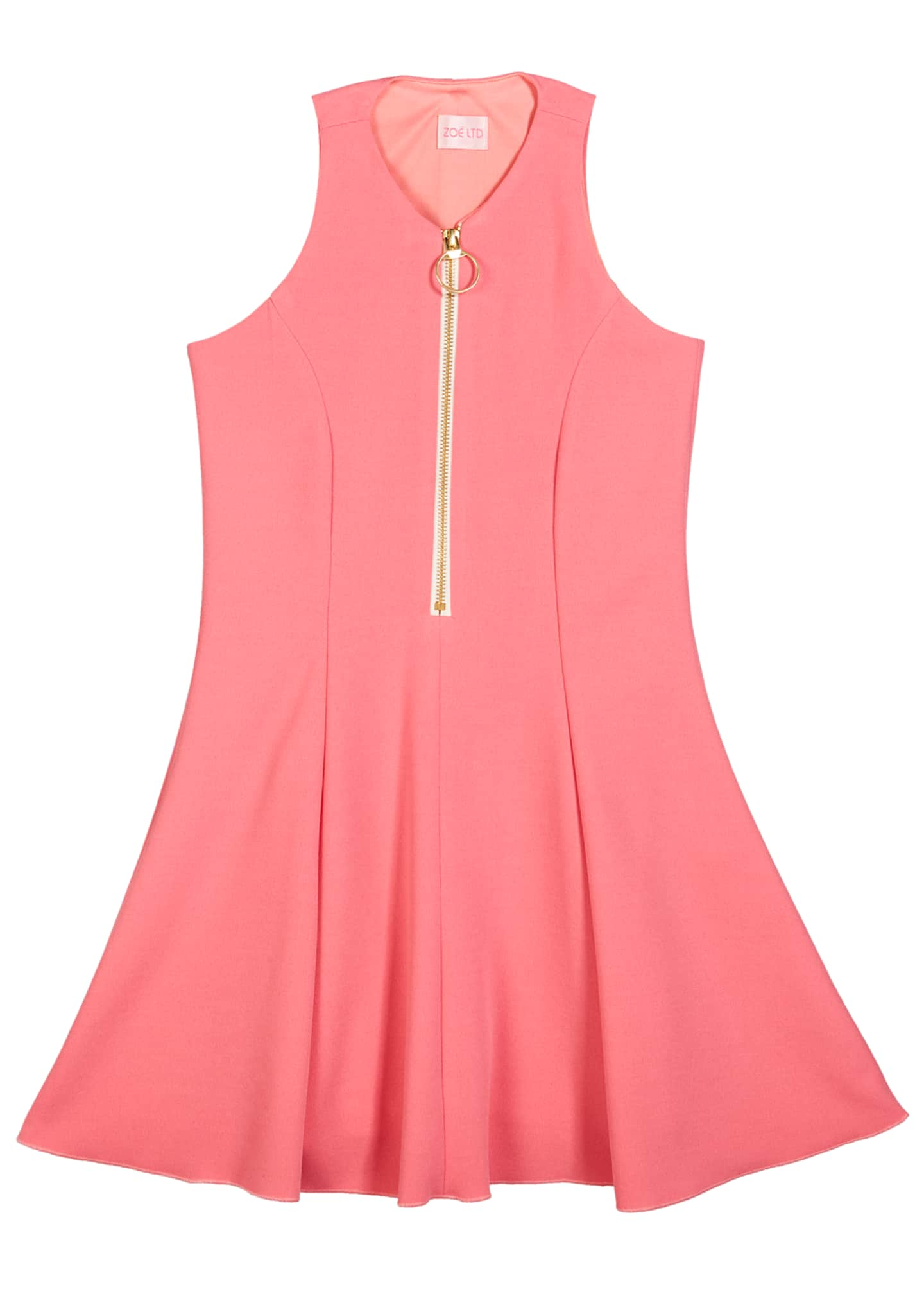 Zoe Cleo Zip-Front Fit-and-Flare Dress, Size 7-16