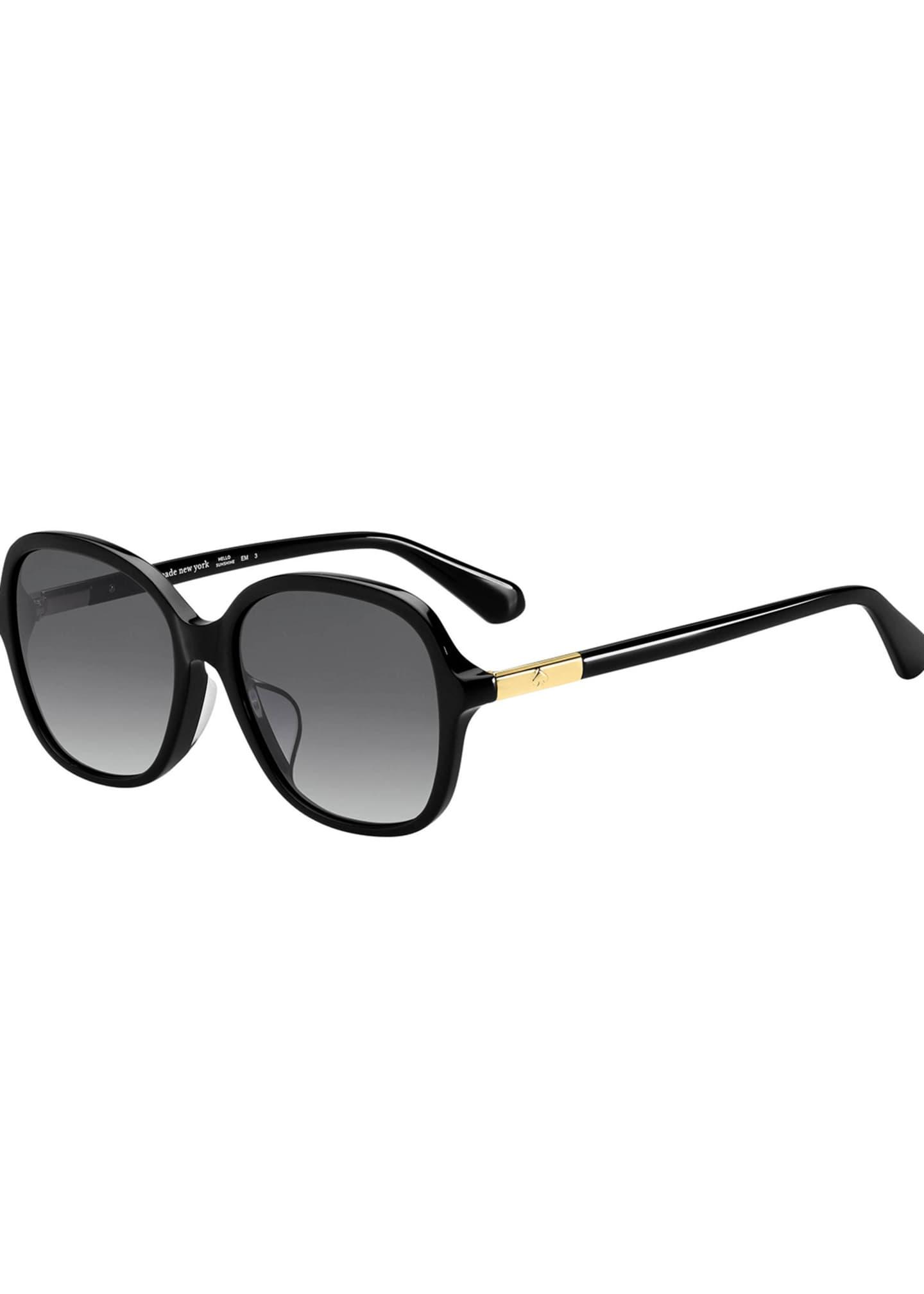 kate spade new york bryleef square acetate sunglasses