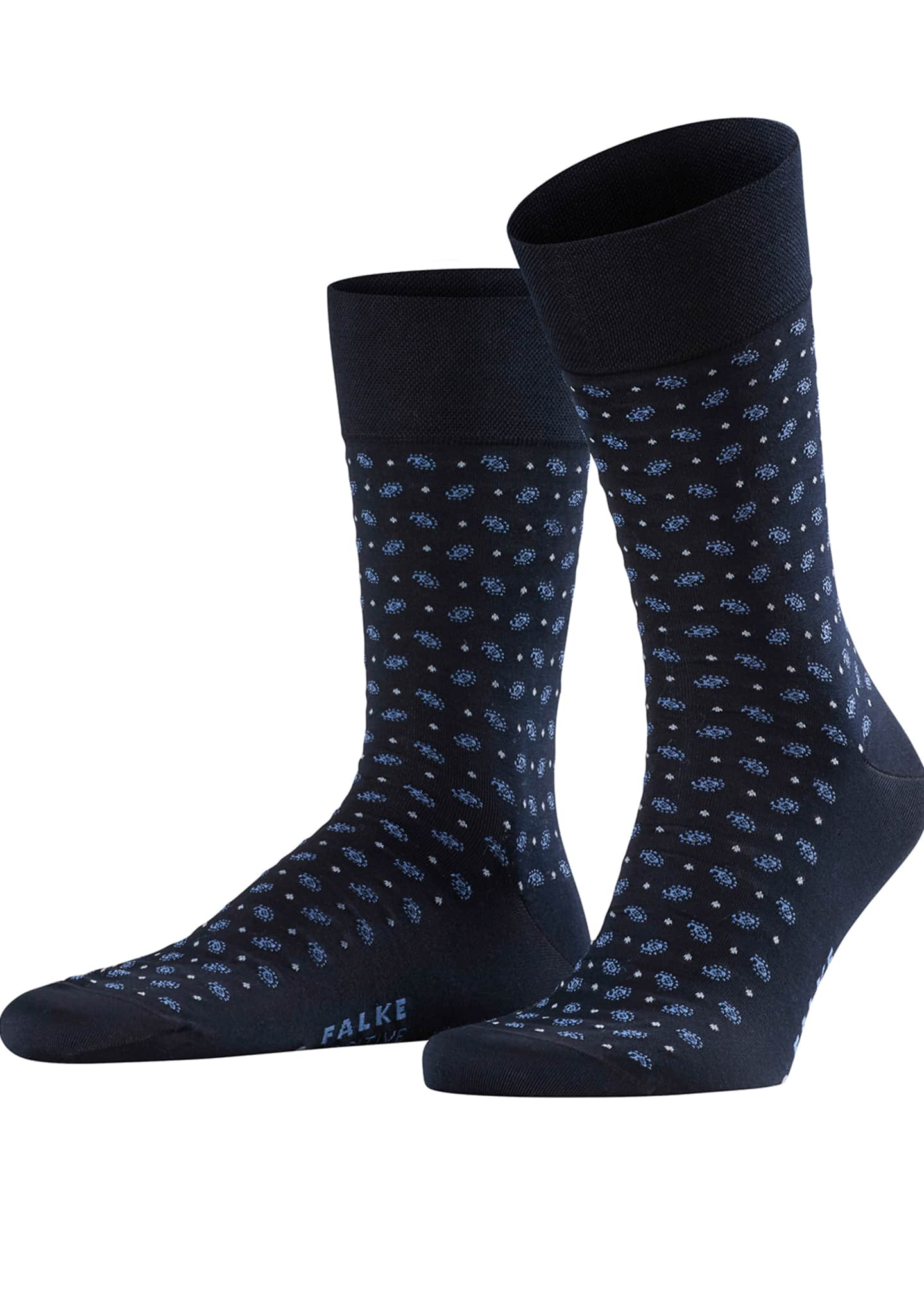 Falke Men's Jabot Dot-Pattern Socks