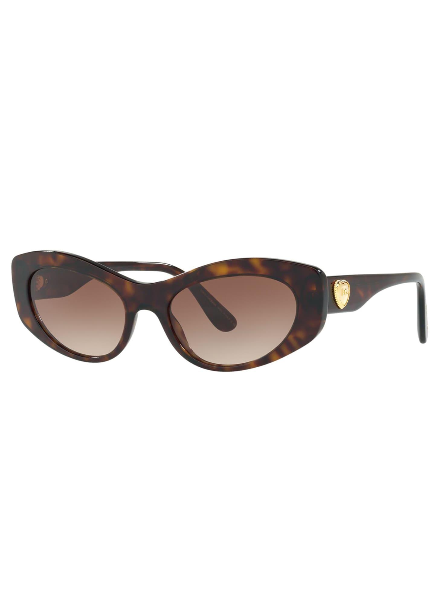 Dolce & Gabbana Cat-Eye Logo Heart Sunglasses