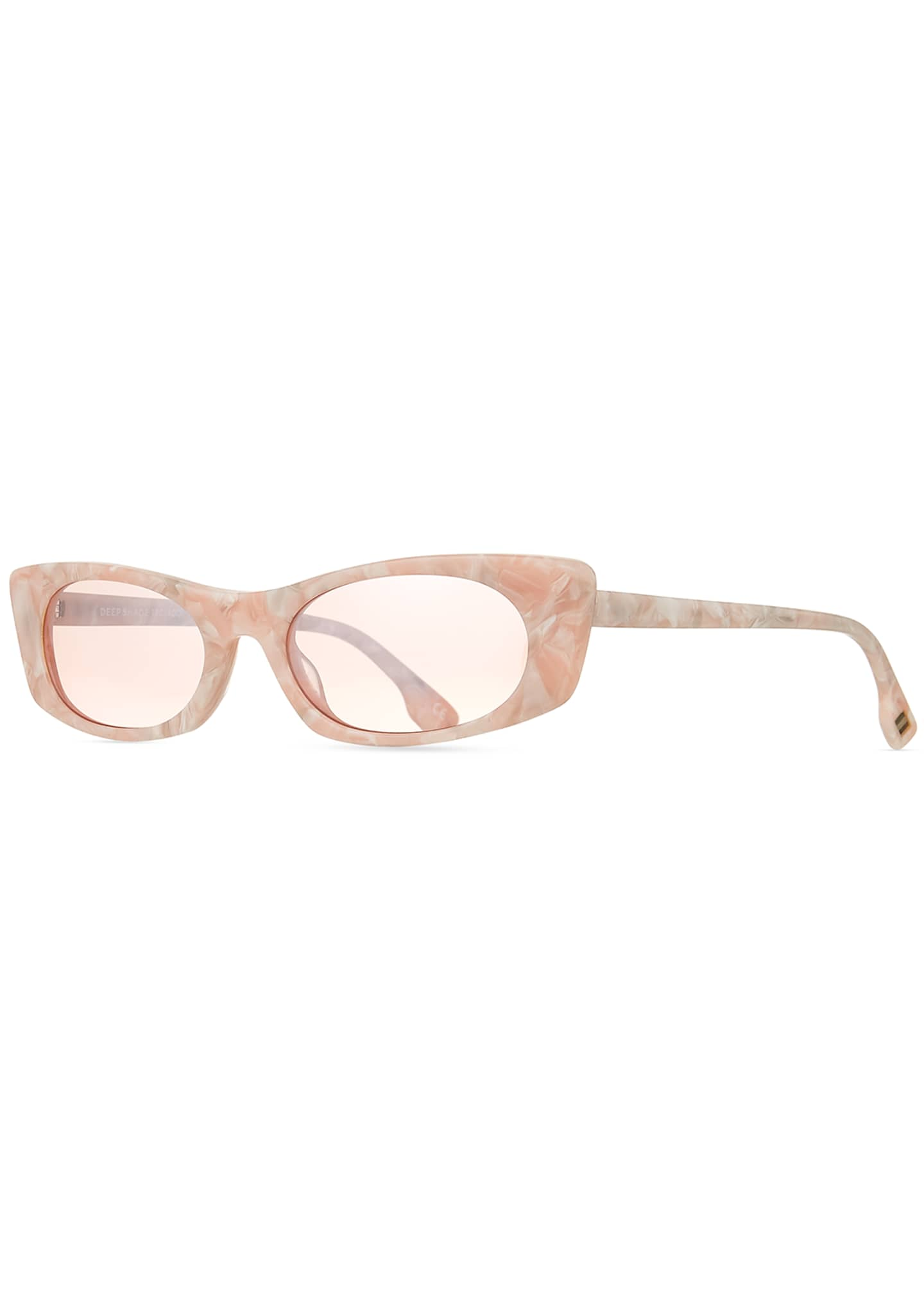 Le Specs Luxe Deep Shade Marbleized Acetate Cat-Eye