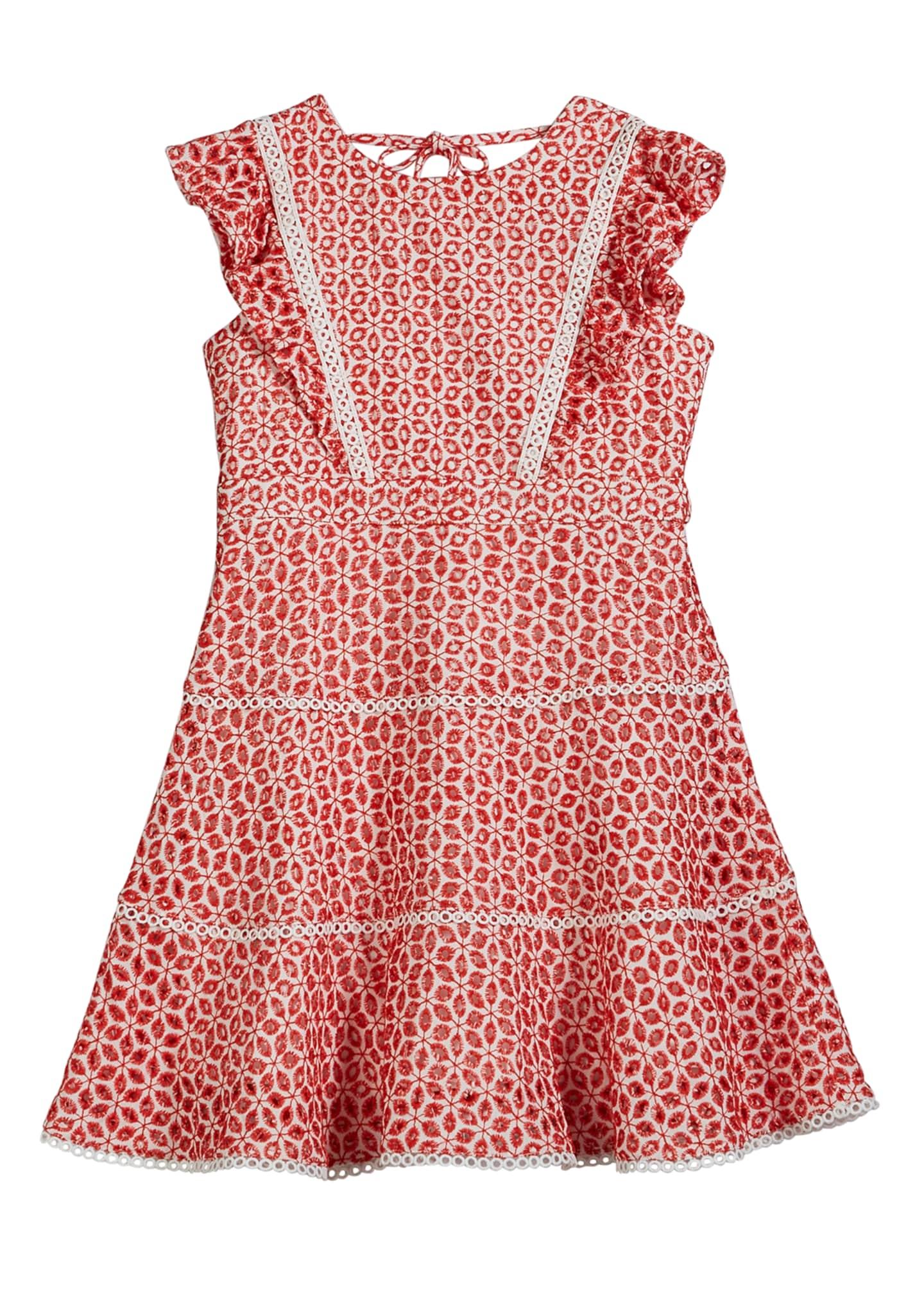 Bardot Junior Selena Two-Tone Eyelet Lace Dress, Size