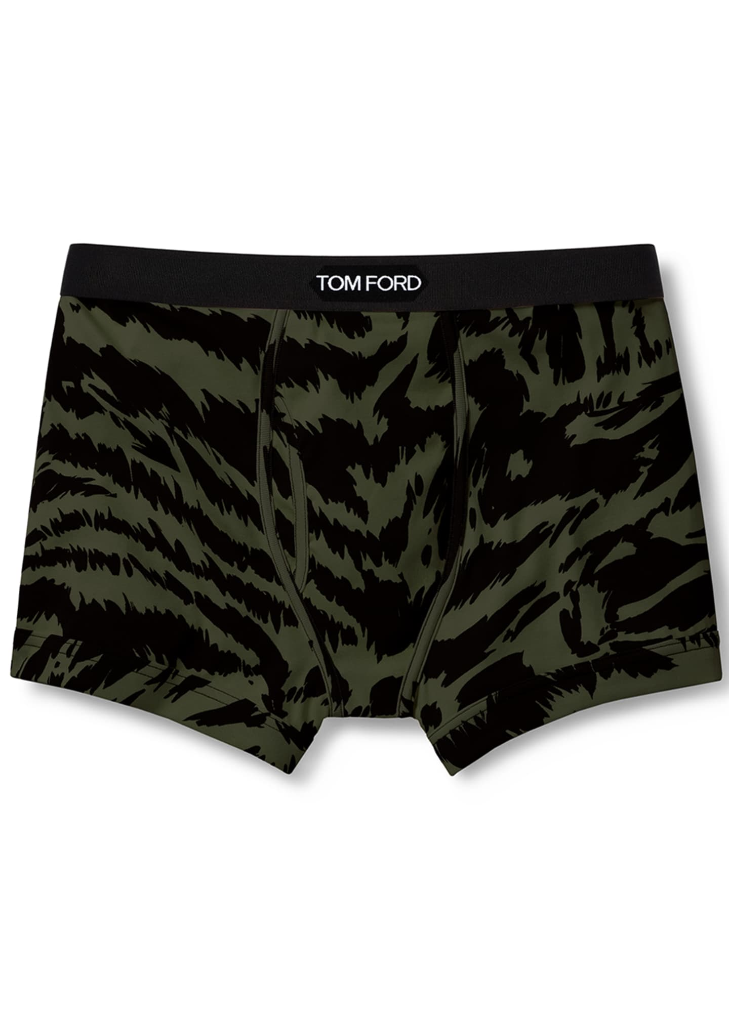 Image 2 of 2: Men's Cotton Zebra-Print Boxer Briefs