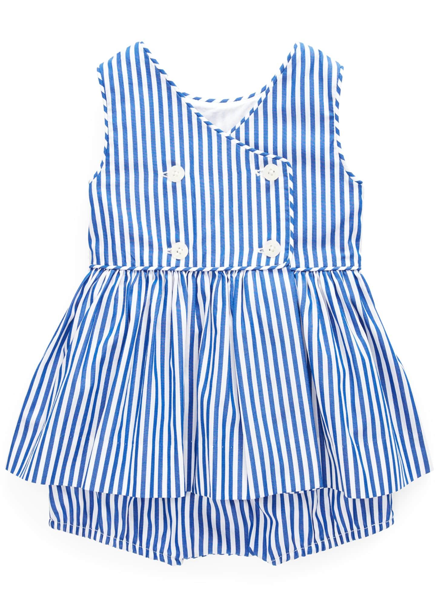 Ralph Lauren Childrenswear Stripe Double-Breasted Dress w/