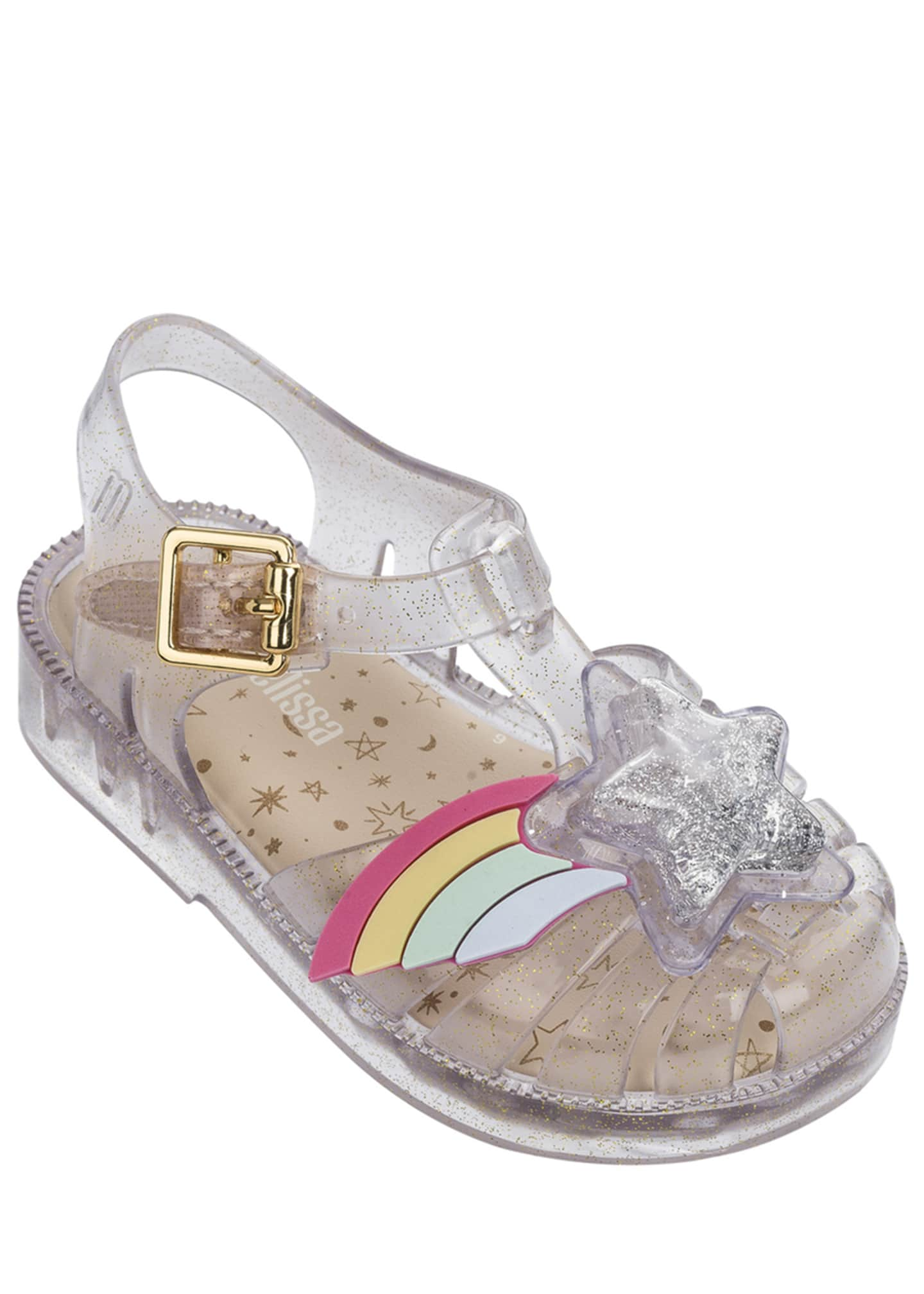 Mini Melissa Possession III Glittered Star Cutout Sandal,