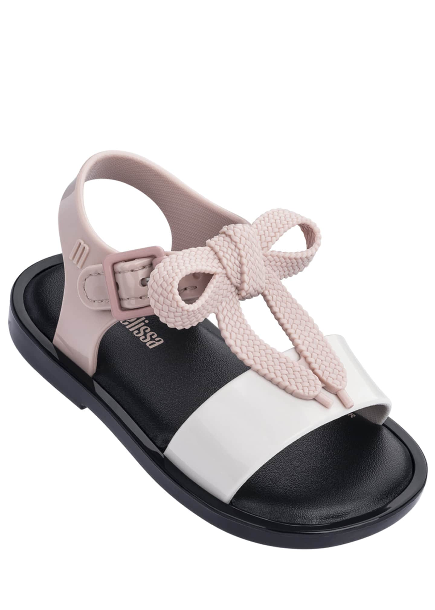 Mini Melissa Mar Shoelace Bow T-Strap Sandal, Baby/Toddler/Kids