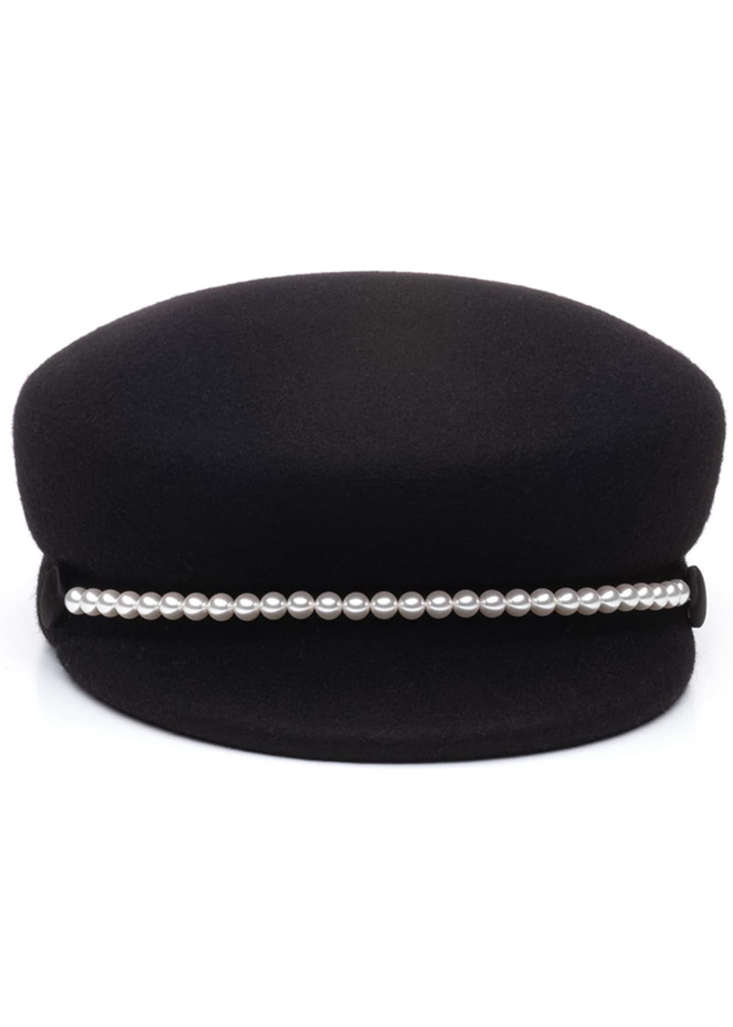 Eugenia Kim Sabrina Wool Newsboy Hat w/ Swarovski