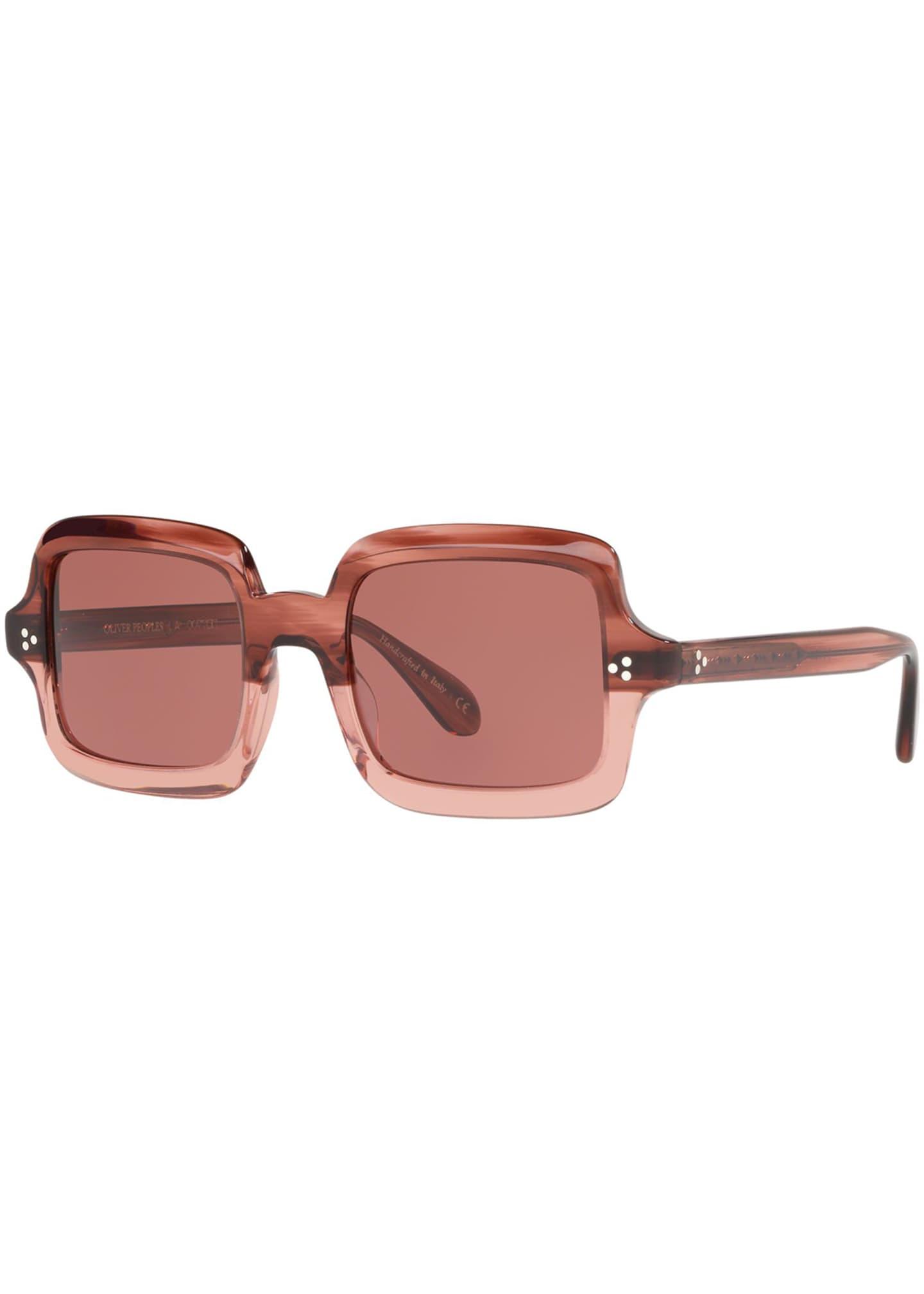 Oliver Peoples Avri Square Polarized Sunglasses
