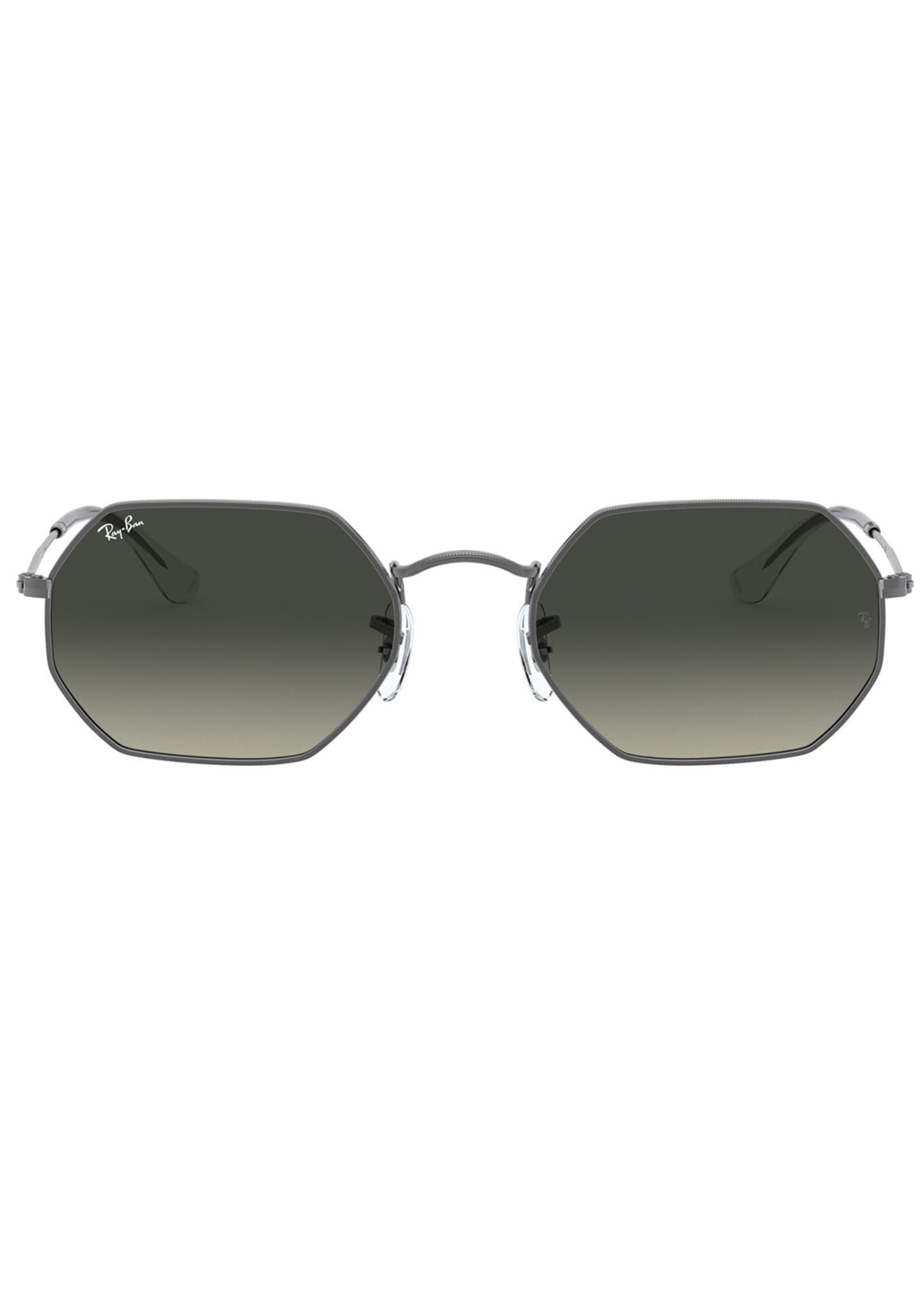 Image 2 of 3: Octagonal Metal Sunglasses