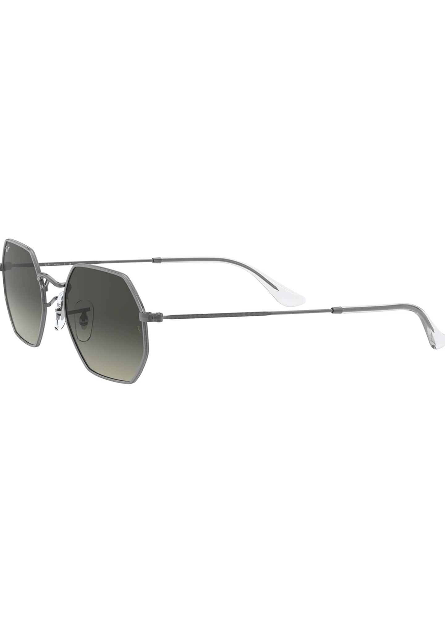 Image 3 of 3: Octagonal Metal Sunglasses
