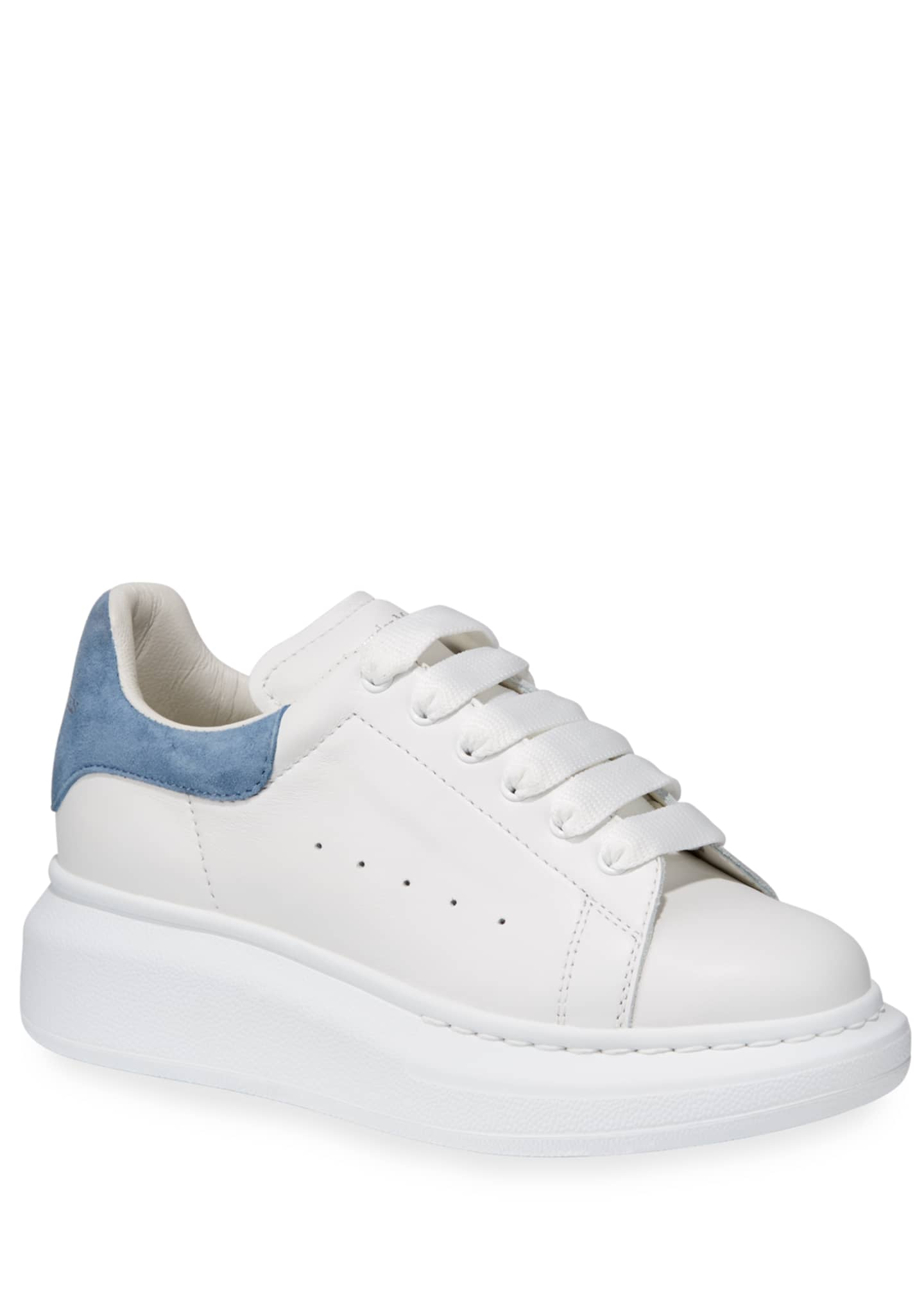 Image 1 of 4: Oversized Leather Sneakers, Toddler/Kids
