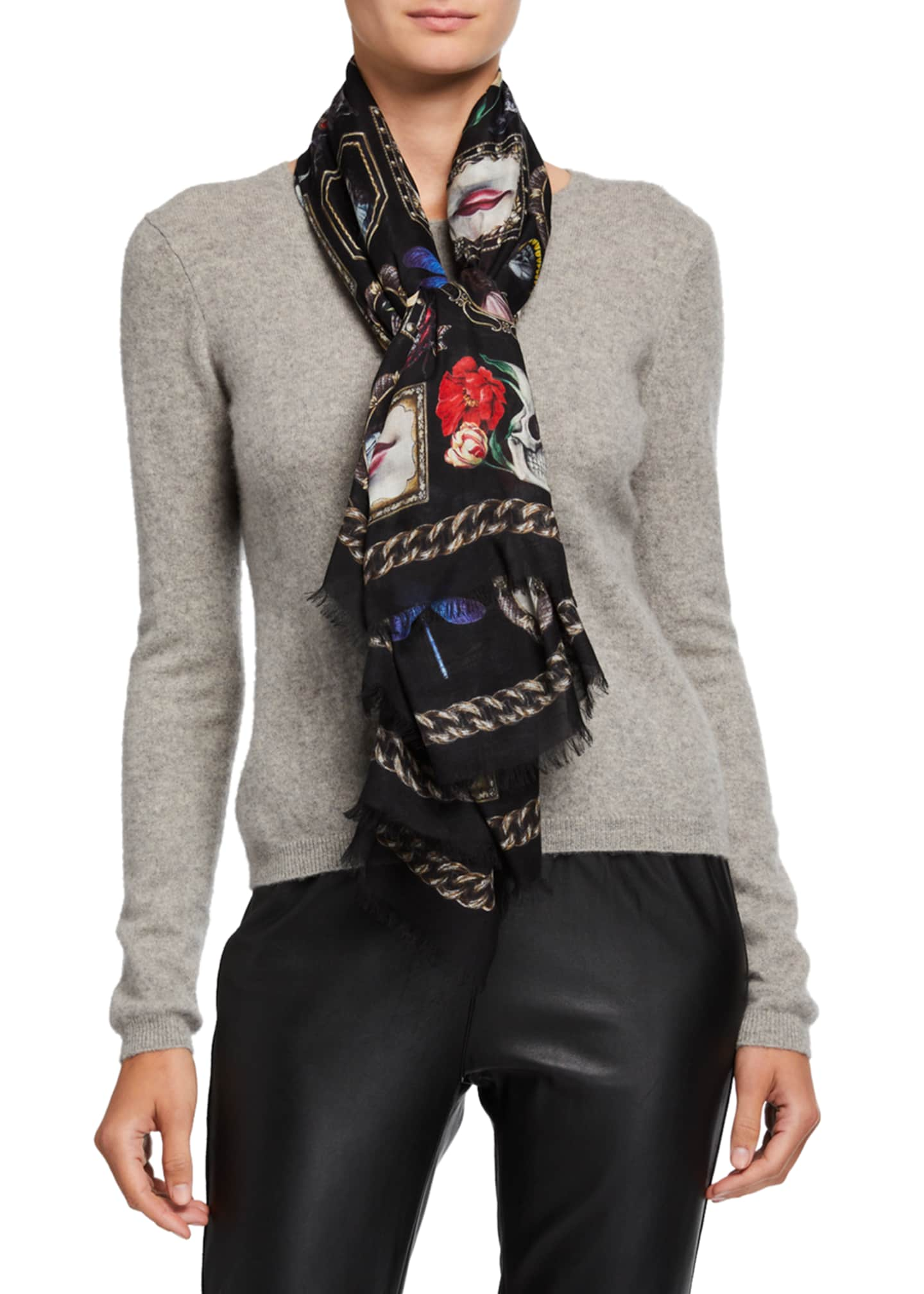 Image 1 of 3: Cameo Curiosities Fringe Scarf