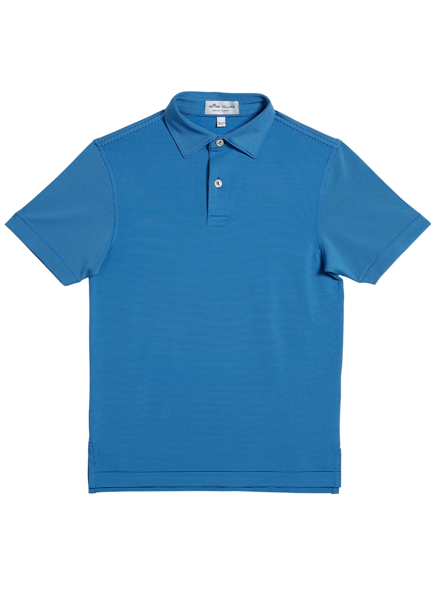 Image 1 of 1: Stretch Jersey Jubilee Striped Polo Shirt, Size XS-XL
