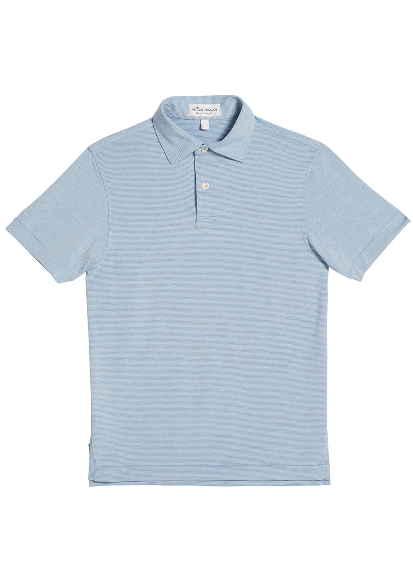 Peter Millar Stretch Jersey Jubilee Striped Polo Shirt,