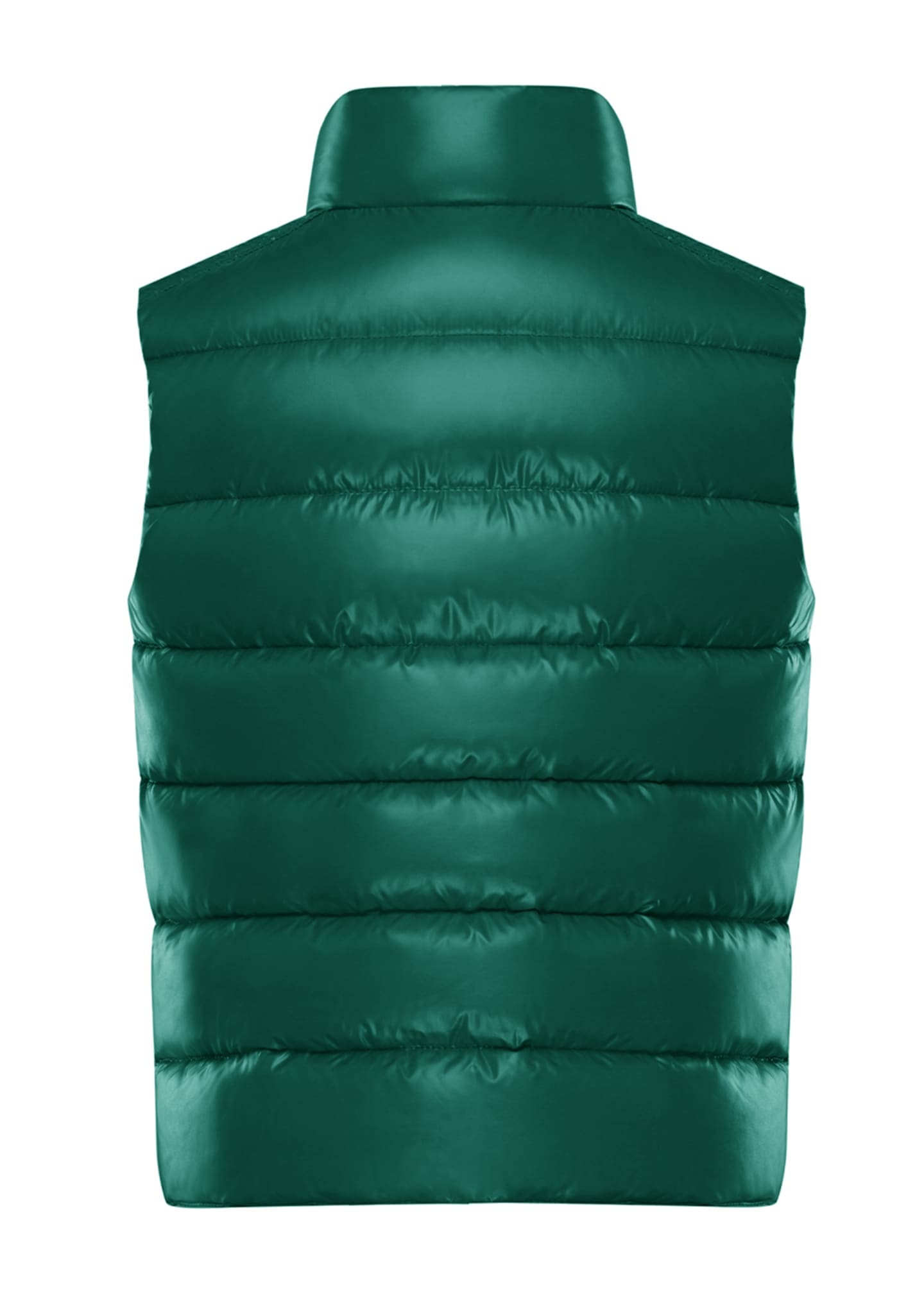 Image 2 of 2: Quilted Nylon Snap-Front Puffer Vest, Size 8-14