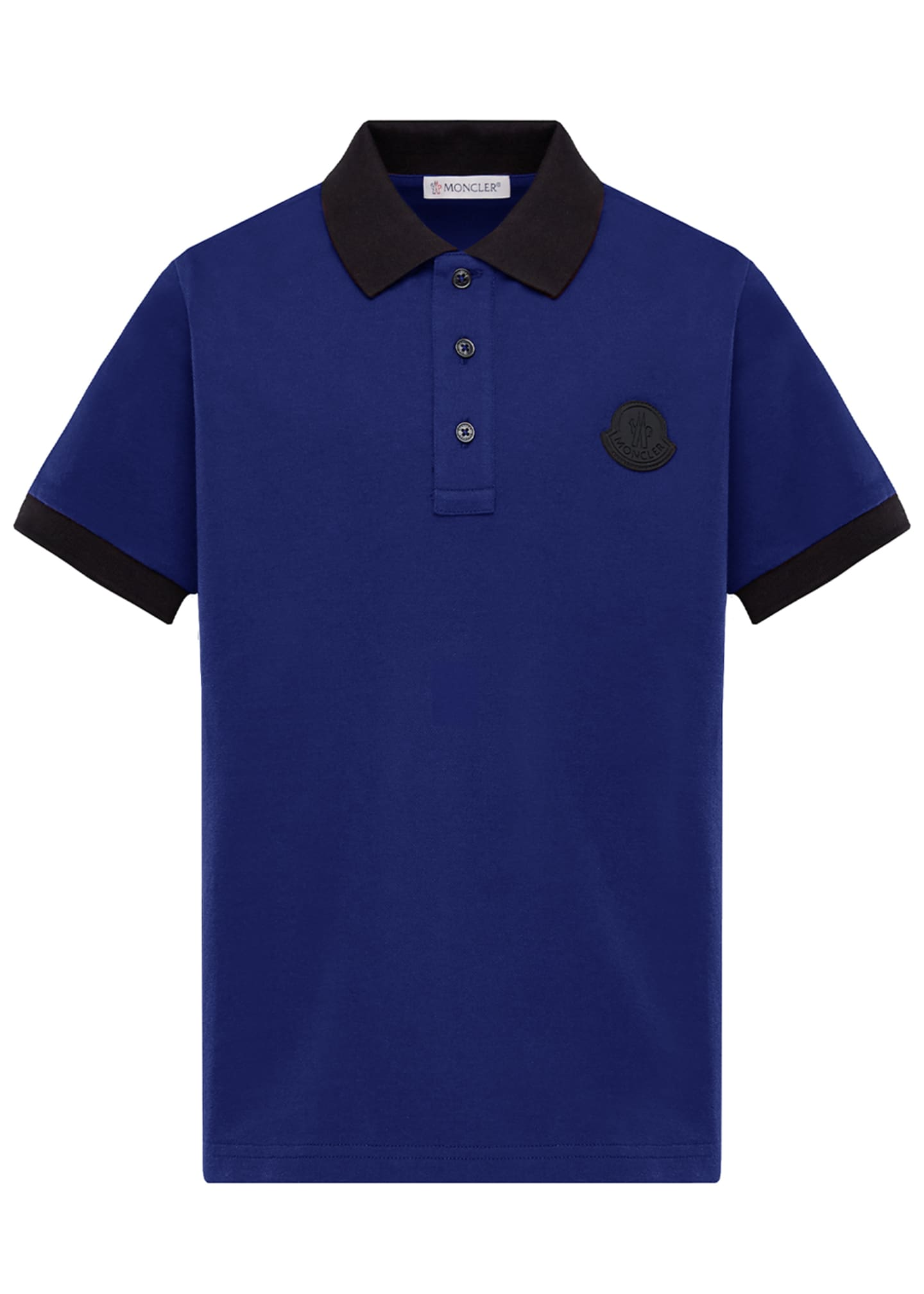 Moncler Contrast-Trim Polo Shirt, Size 4-6