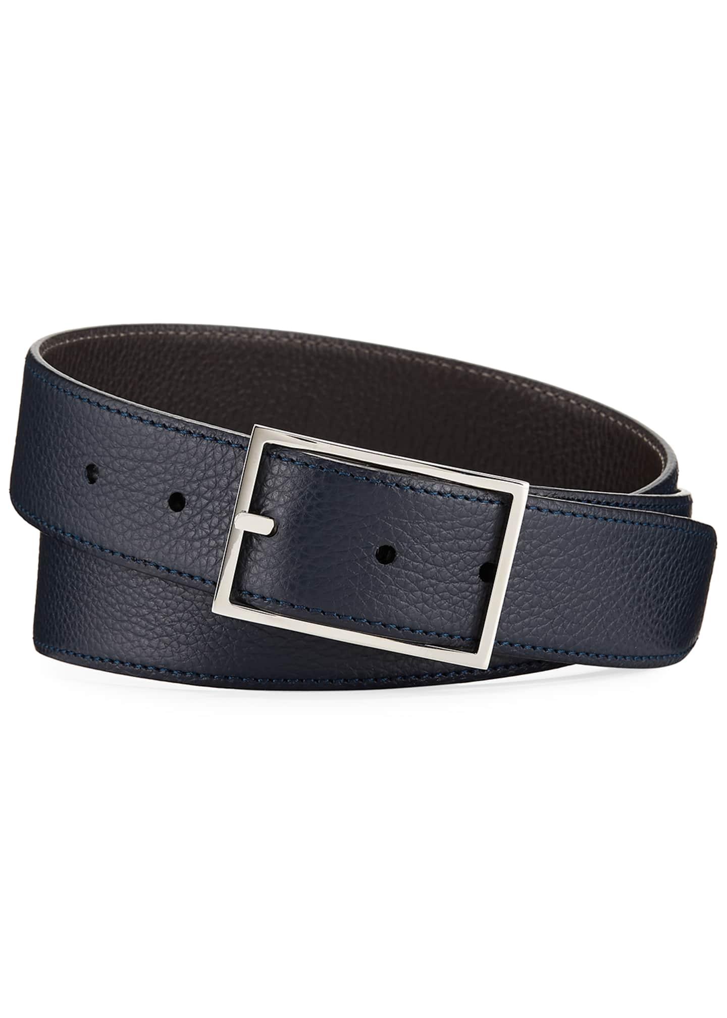Simonnot Godard Lagun Grained Reversible Belt