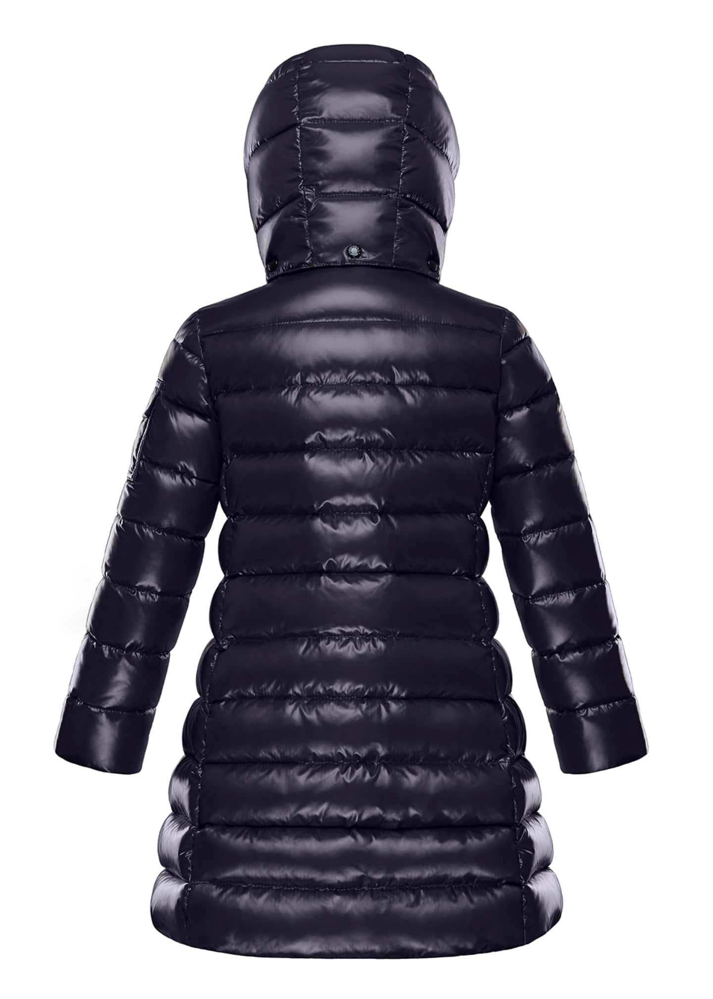 Image 2 of 2: Moka Laque Mini Me Quilted Hooded Long Coat, Size 8-14