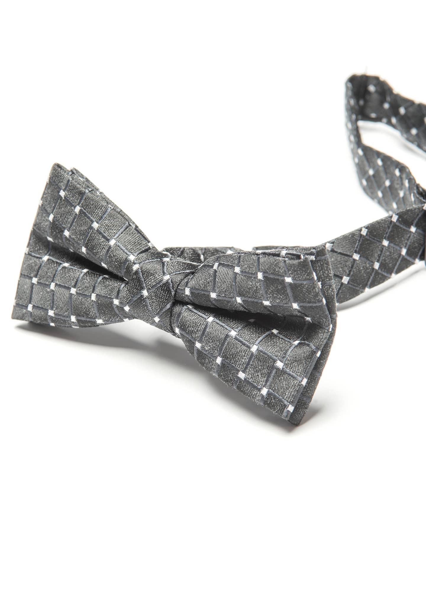Appaman Boy's Diamond Weave Silk Bow Tie