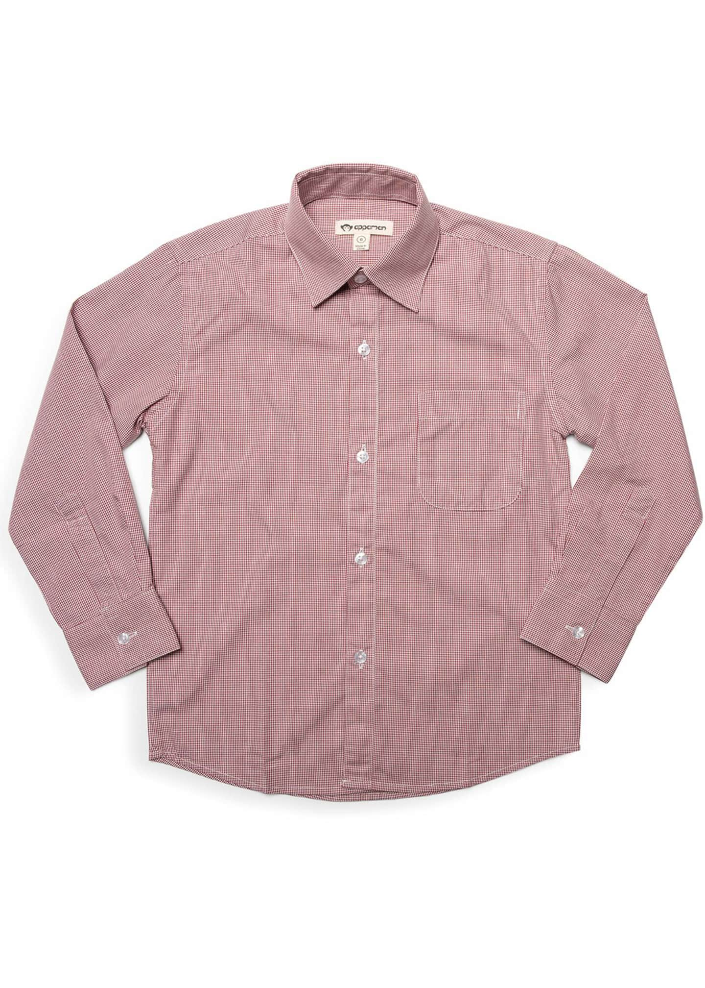 Boy's Standard Micro Grid Dress Shirt, Size 2-12