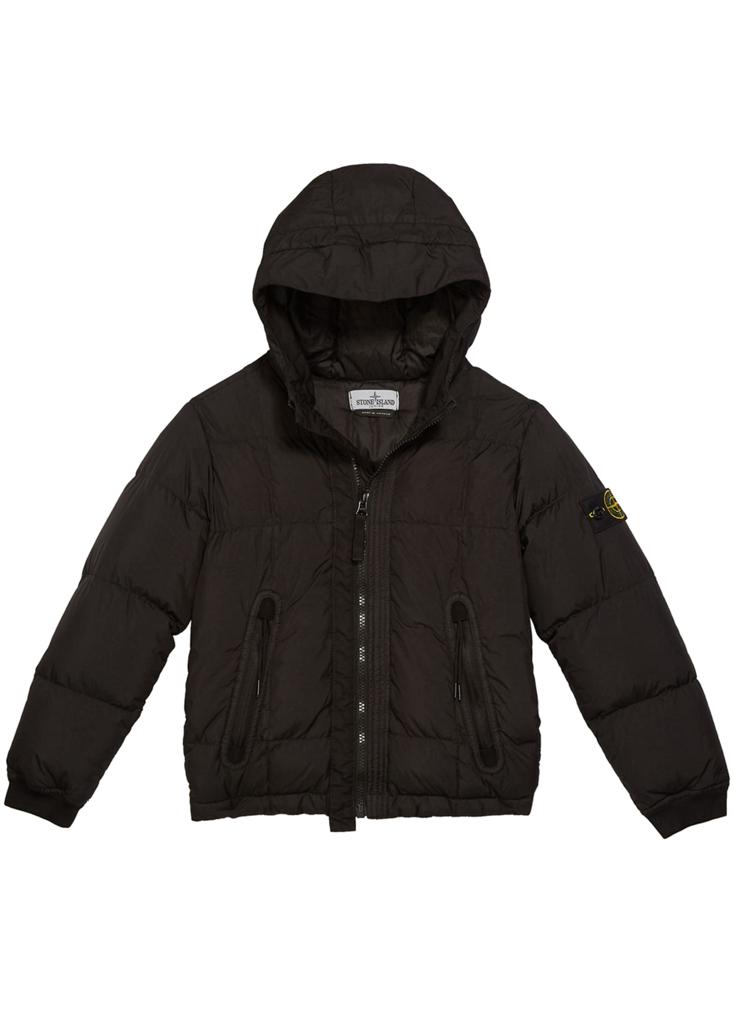 Down Puffer Jacket with Hood, Size 2-6