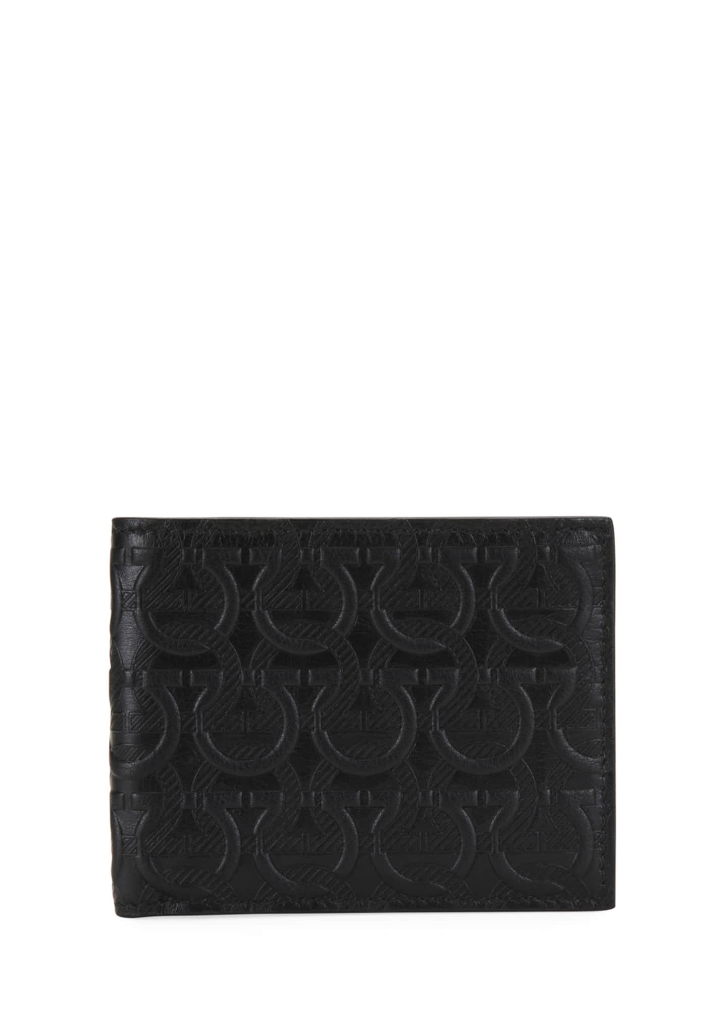 Salvatore Ferragamo Men's Gancini-Print Leather Wallet