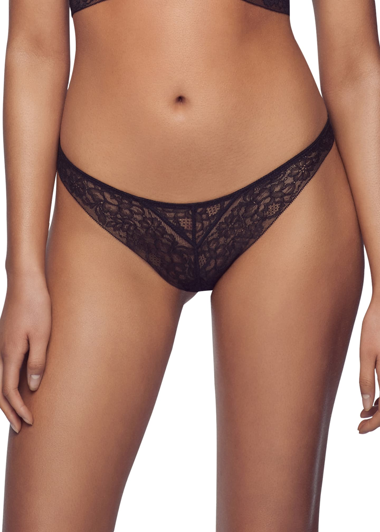 Kiki De Montparnasse Stretch-Lace G-String Thong