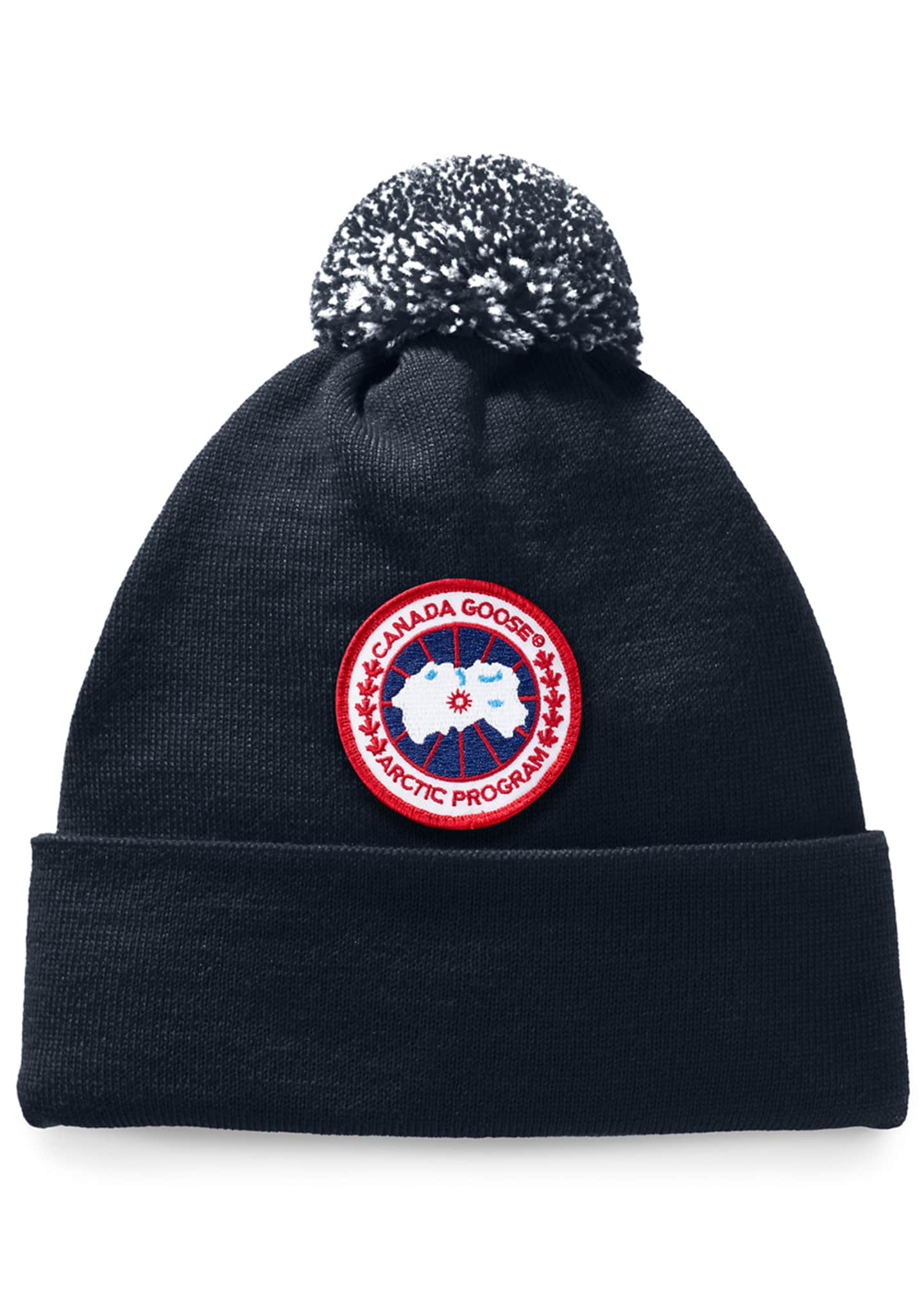 Canada Goose Kid's Logo Patch Pompom Hat