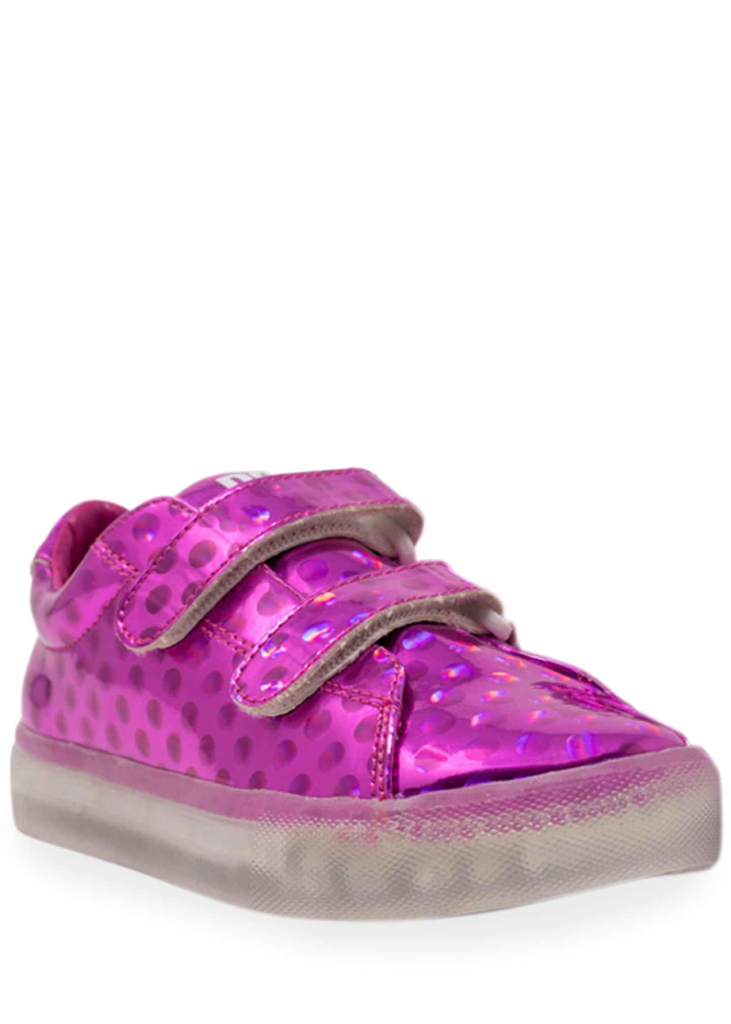 Pop Shoes EZ Dots Metallic Light-Up Sneakers, Toddler/Kids