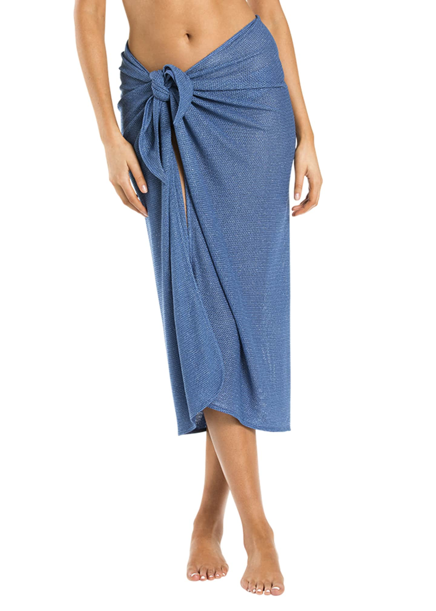 JETS by Jessika Allen Metallic Sarong Coverup