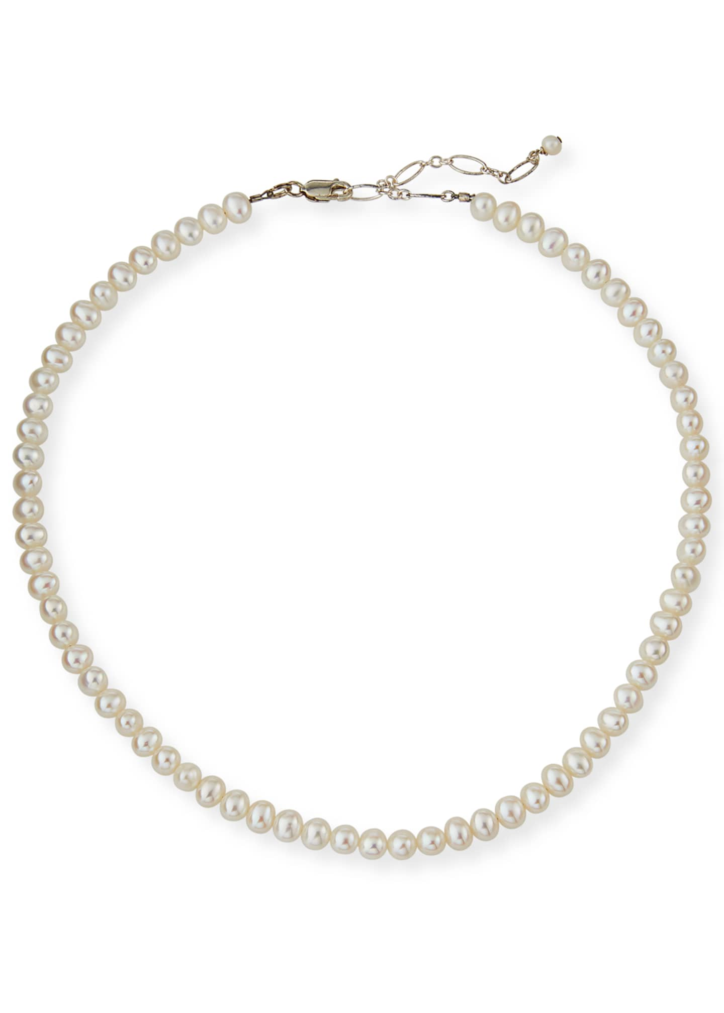 Image 1 of 2: Girl's Classic Pearl Necklace