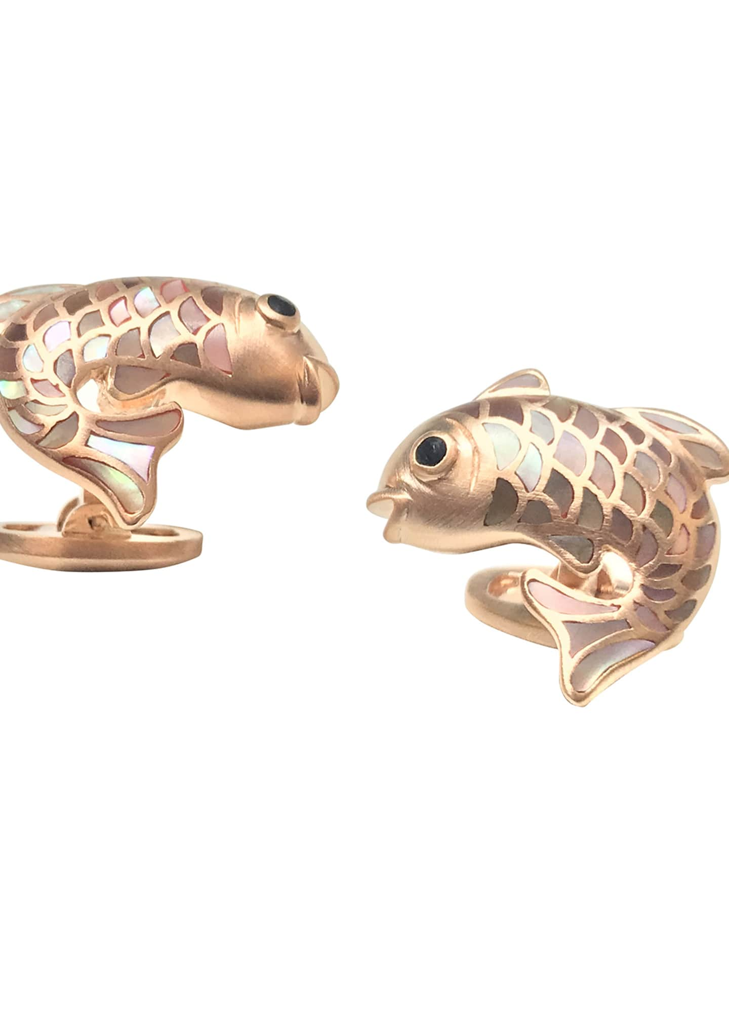 Jan Leslie Mother-of-Pearl Fish Cuff Links, Taupe